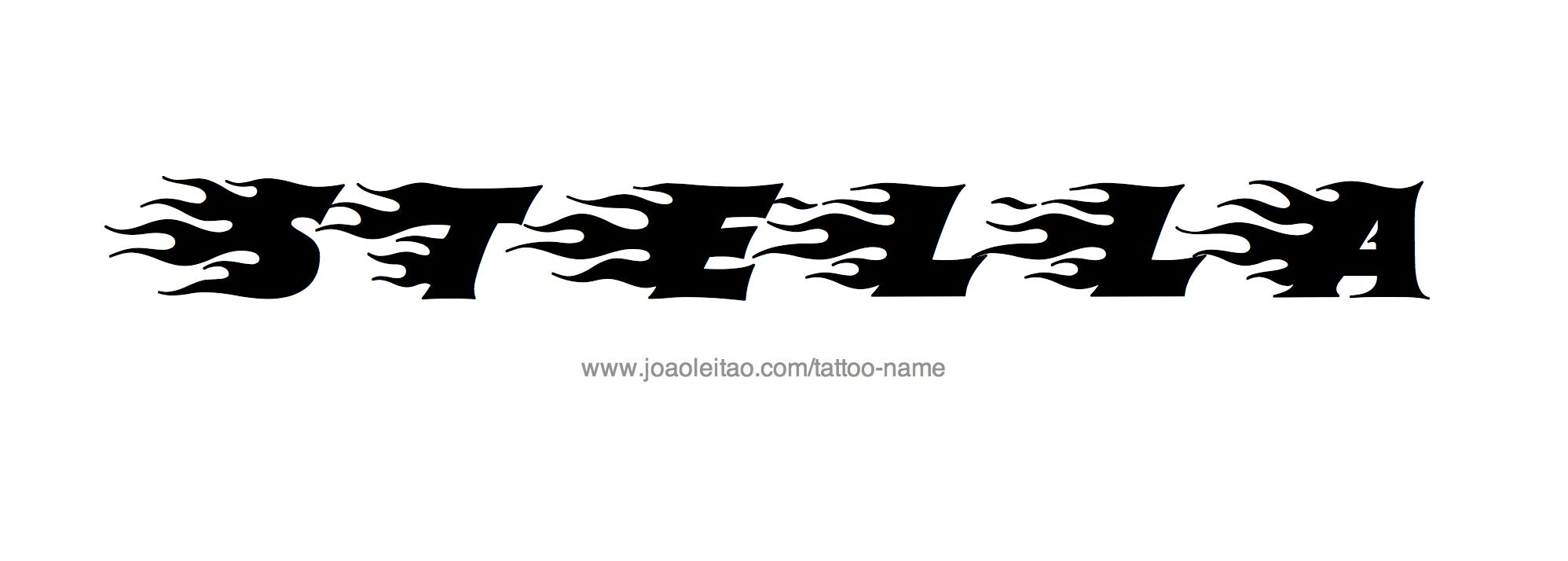 Stella Name Tattoo Designs