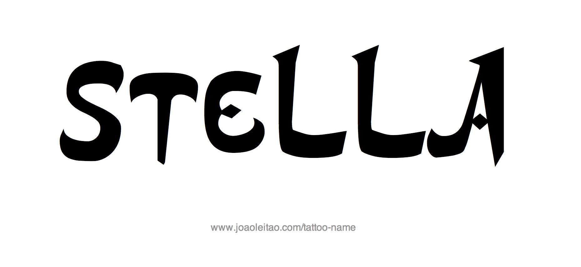 Tattoo Design Name Stella