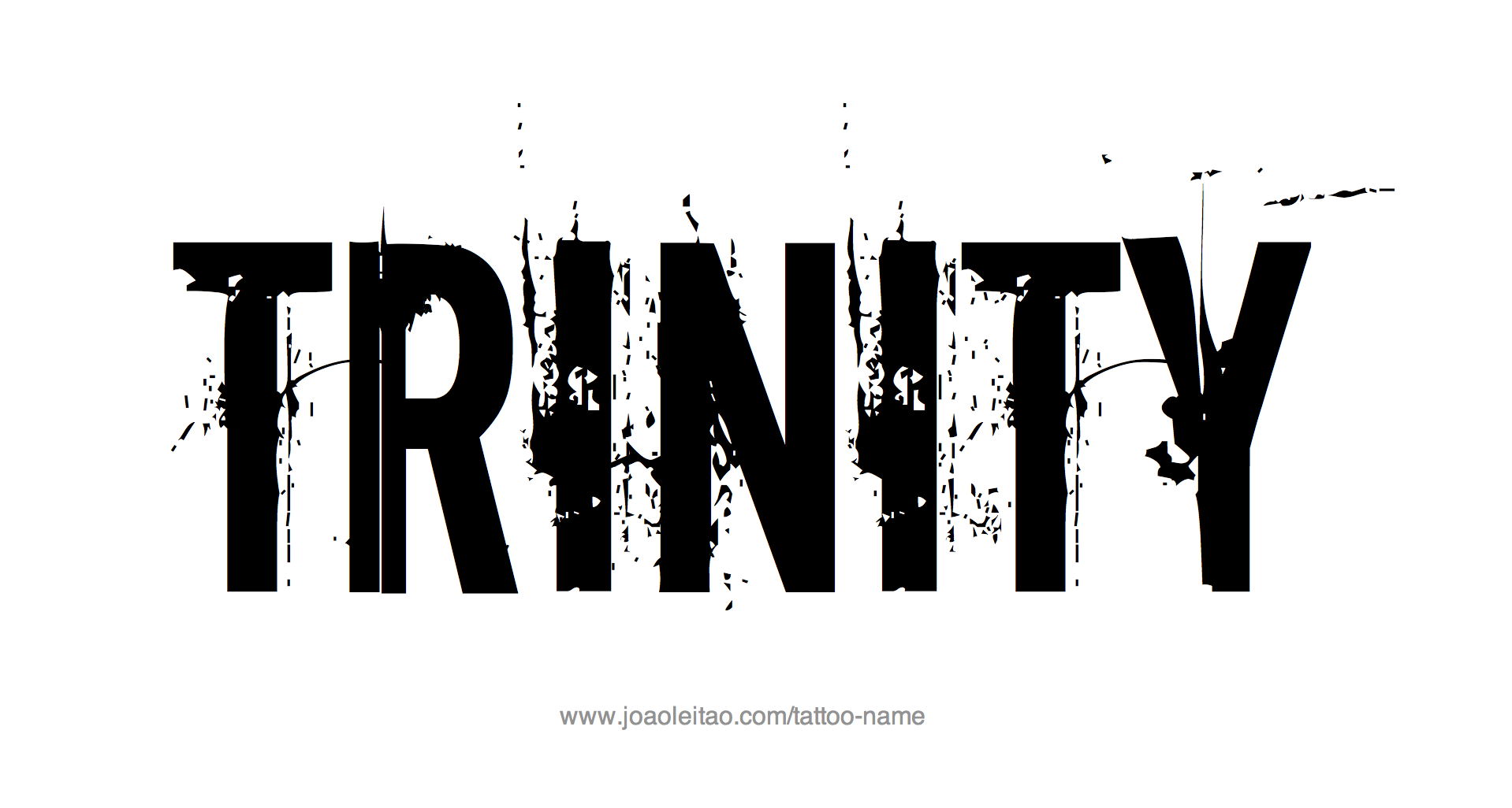 Tattoo Design Name Trinity