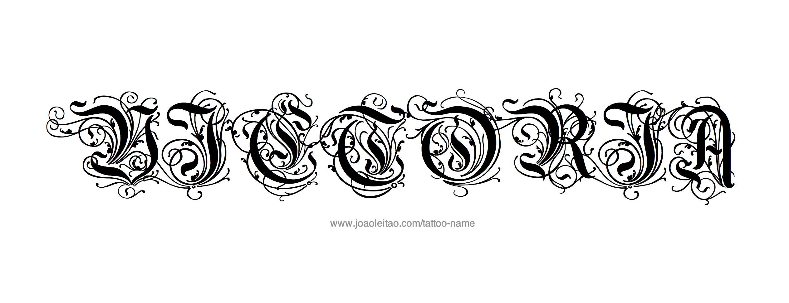 Tattoo Design Name Victoria