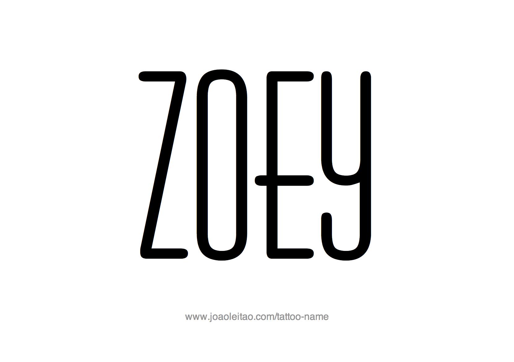 Tattoo Design Name Zoey