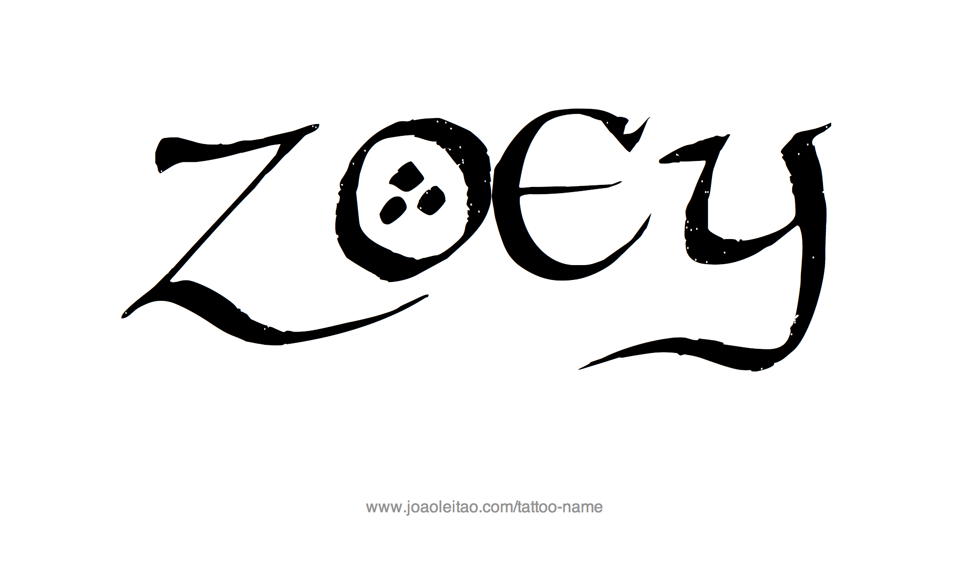 Tattoo Design Name Zoey