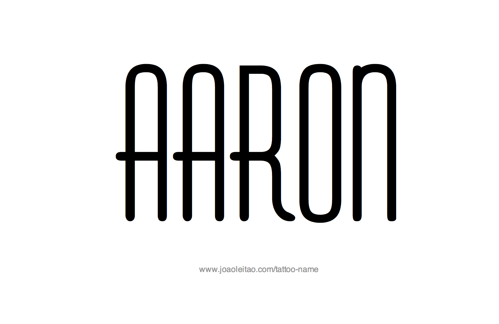 Tattoo Design Name Aaron
