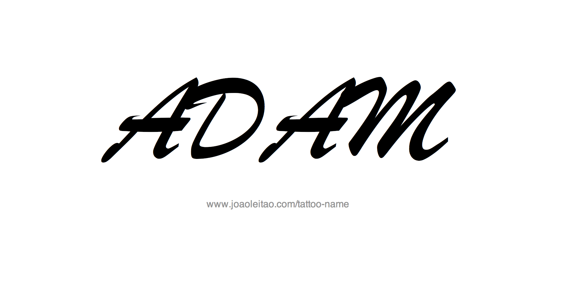 Tattoo Design Name Adam