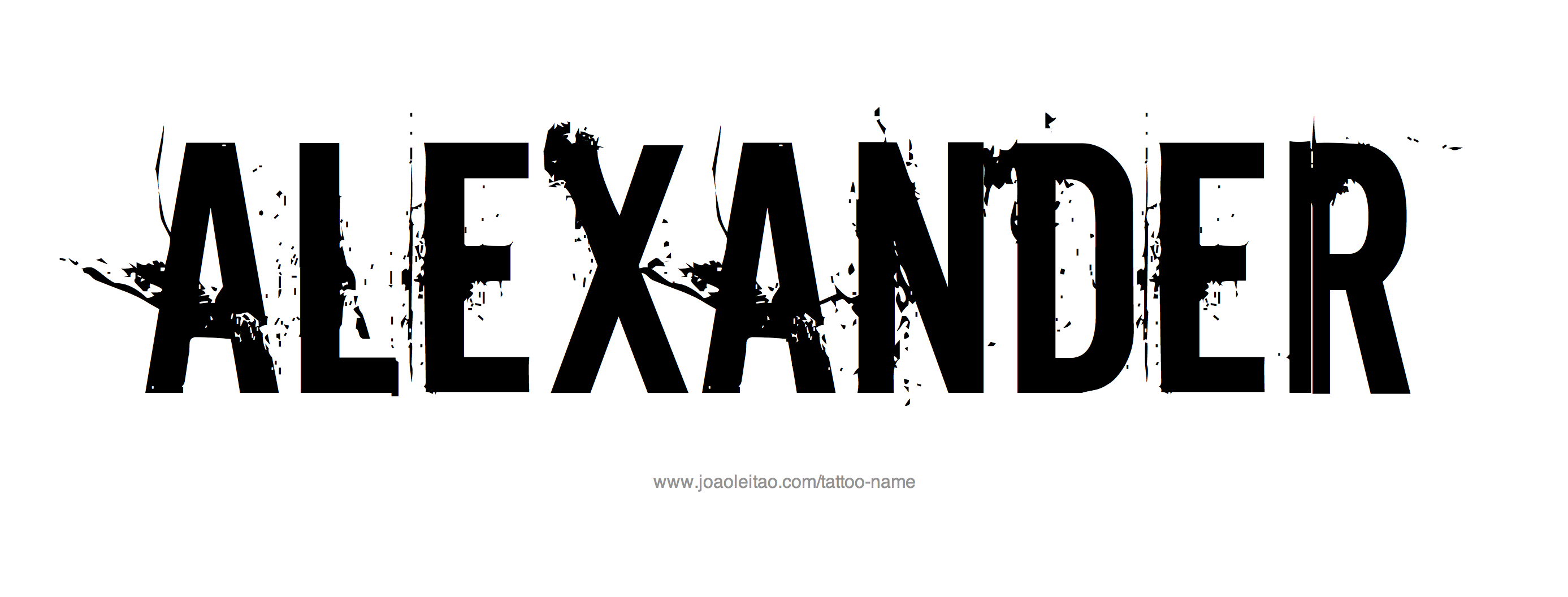 Tattoo Design Name Alexander