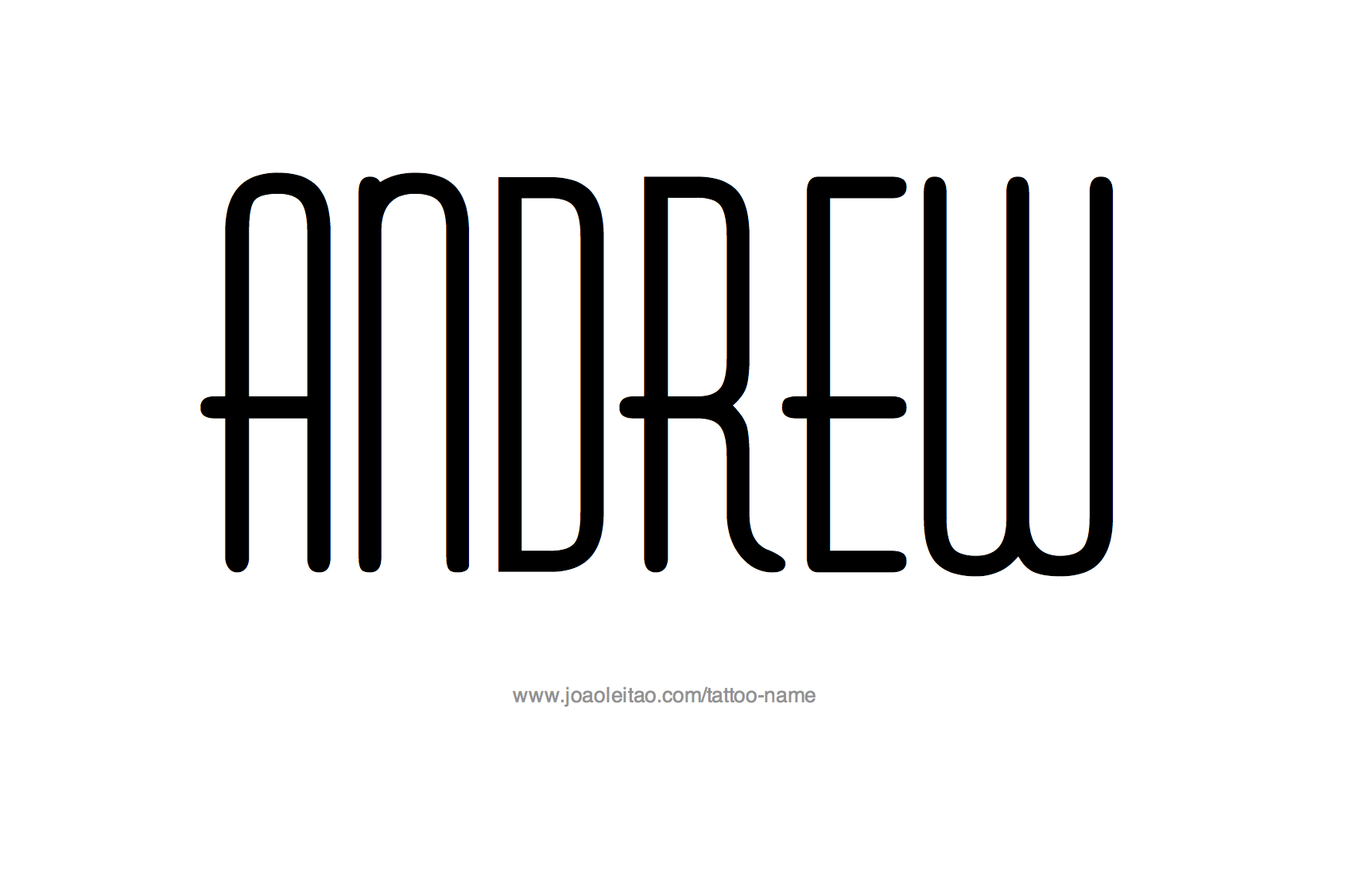 Tattoo Design Name Andrew