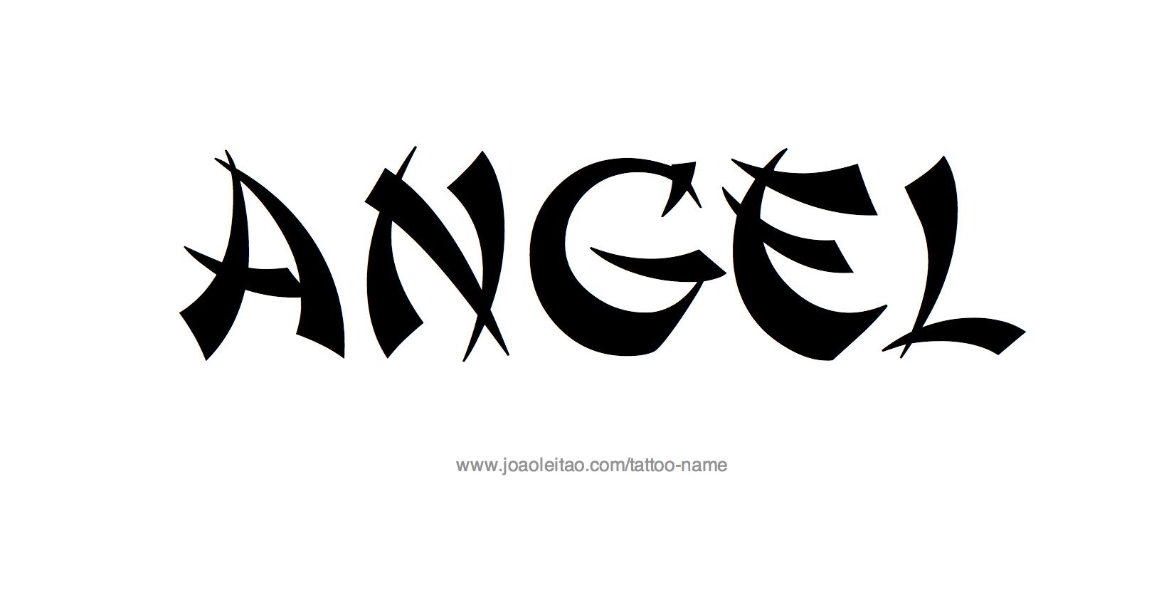 Tattoo Design Name Angel