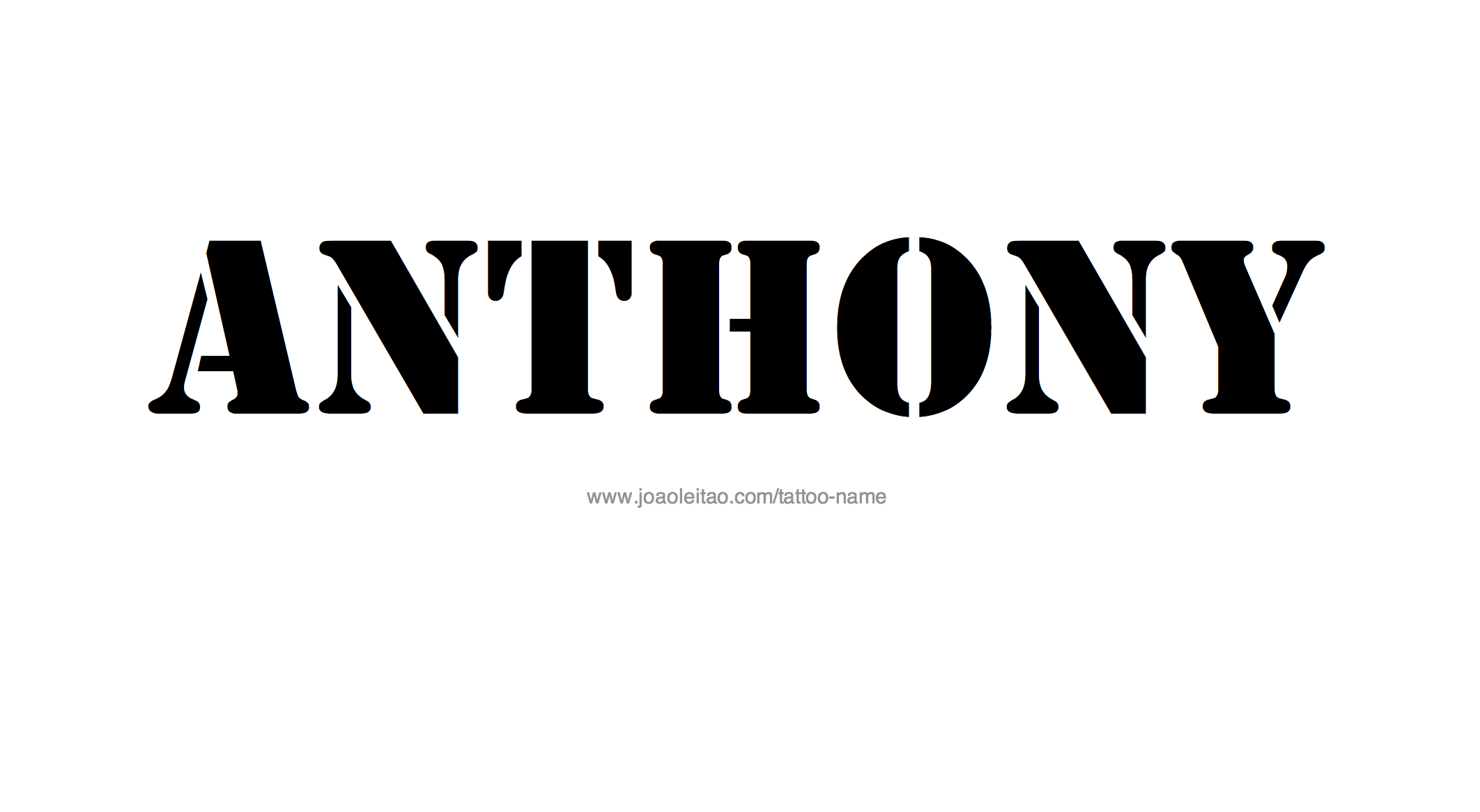 Tattoo Design Name Anthony