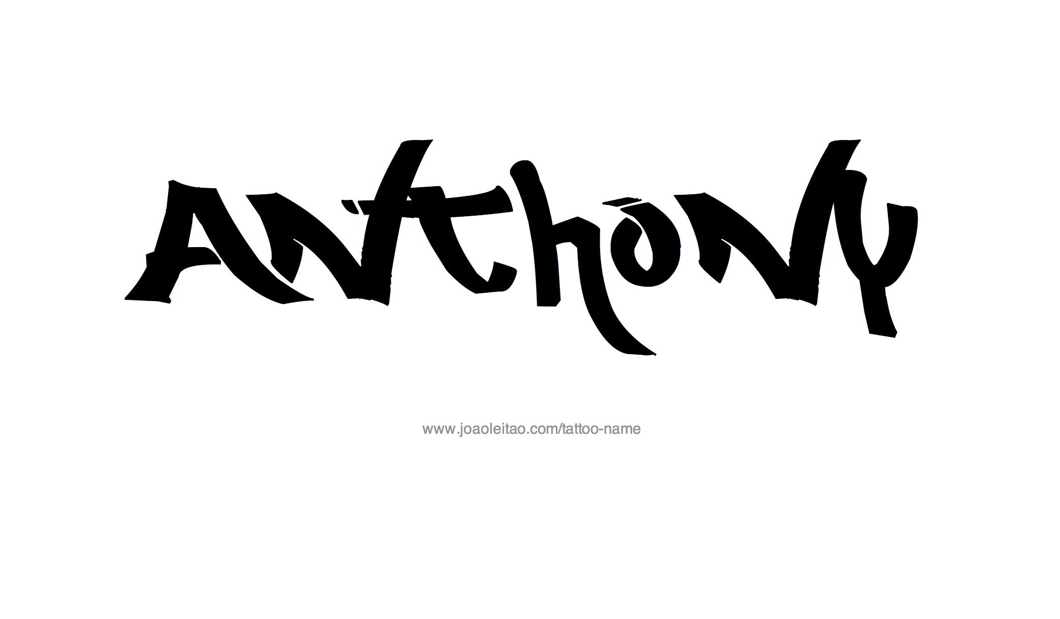 Tattoo Design Name Anthony
