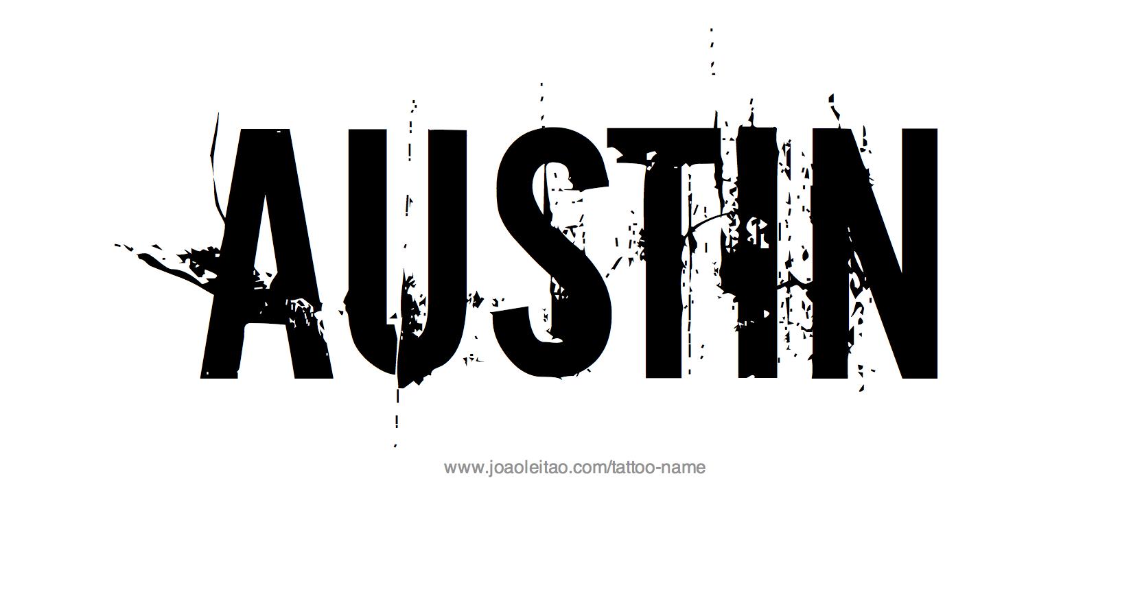 Tattoo Design Name Austin