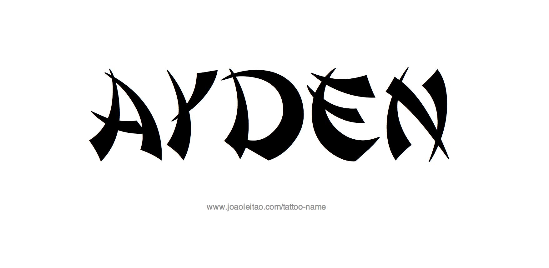 Tattoo Design Name Ayden