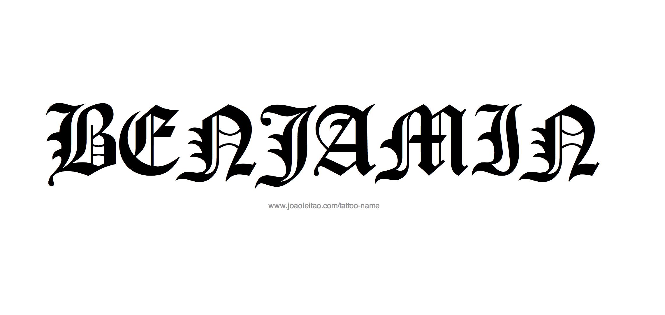 Benjamin Name Tattoo Designs