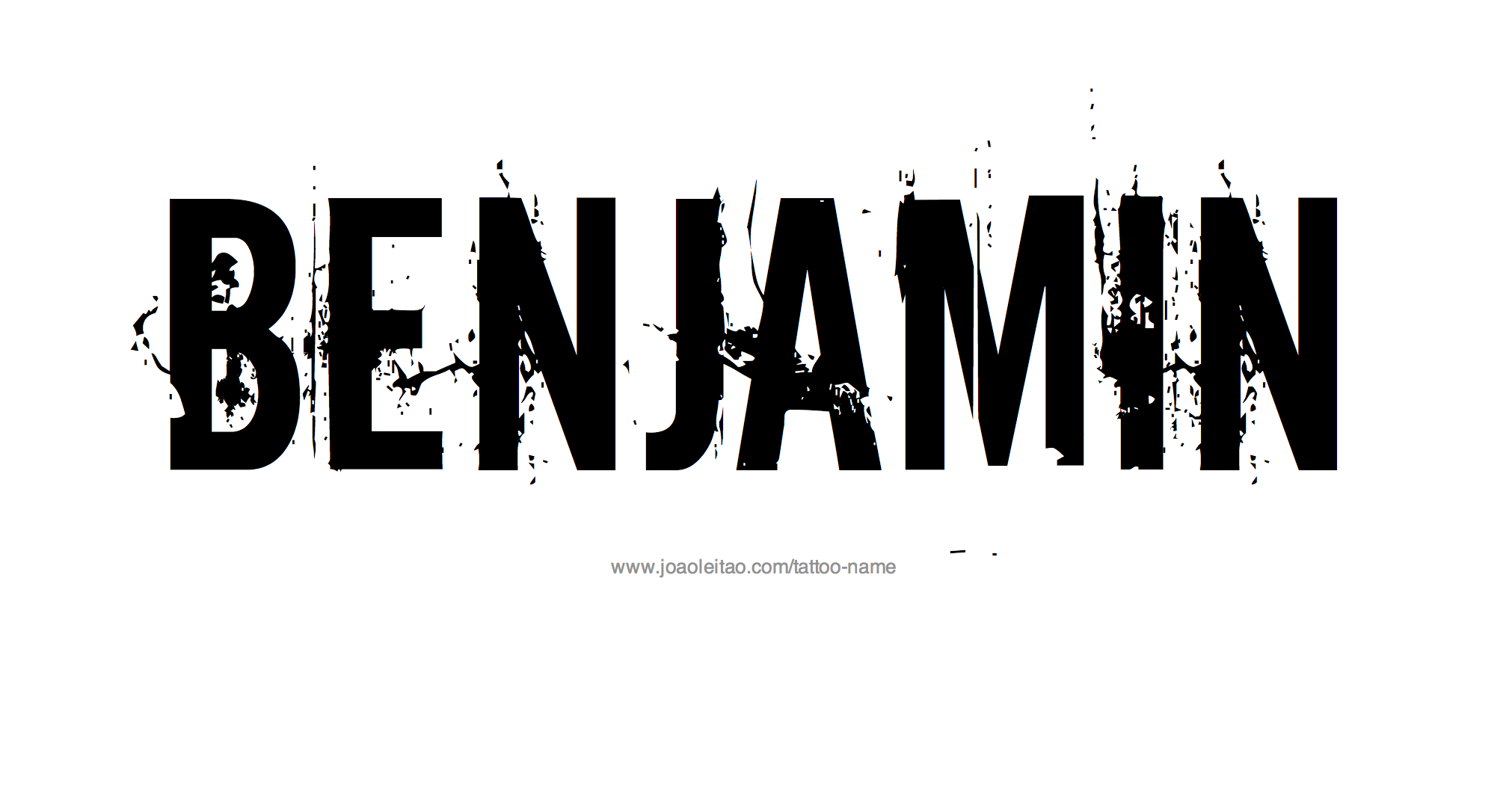 Tattoo Design Name Benjamin
