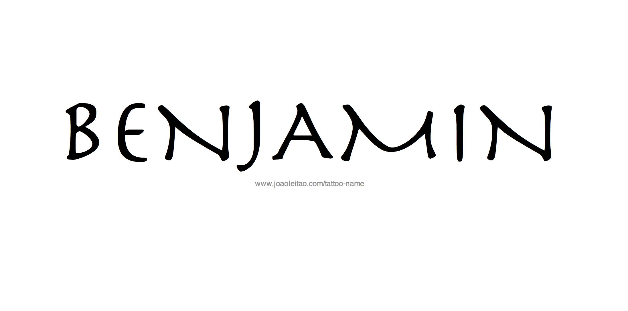Name: Benjamin Name Tattoo Designs