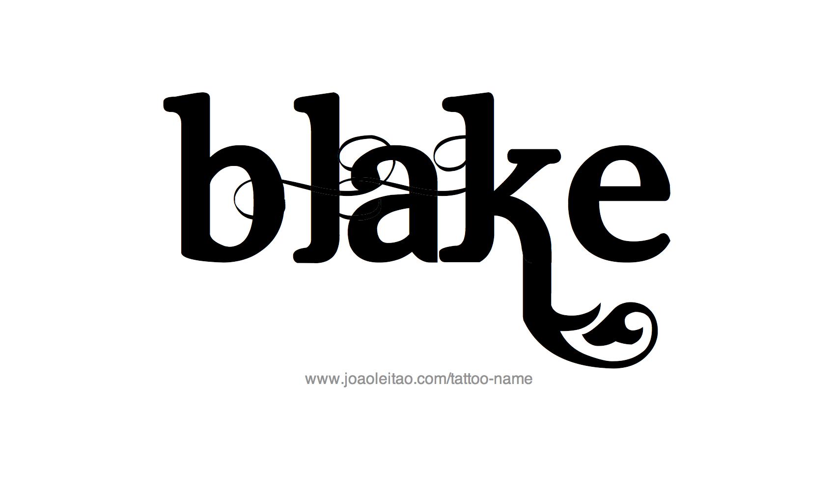 Tattoo Design Name Blake