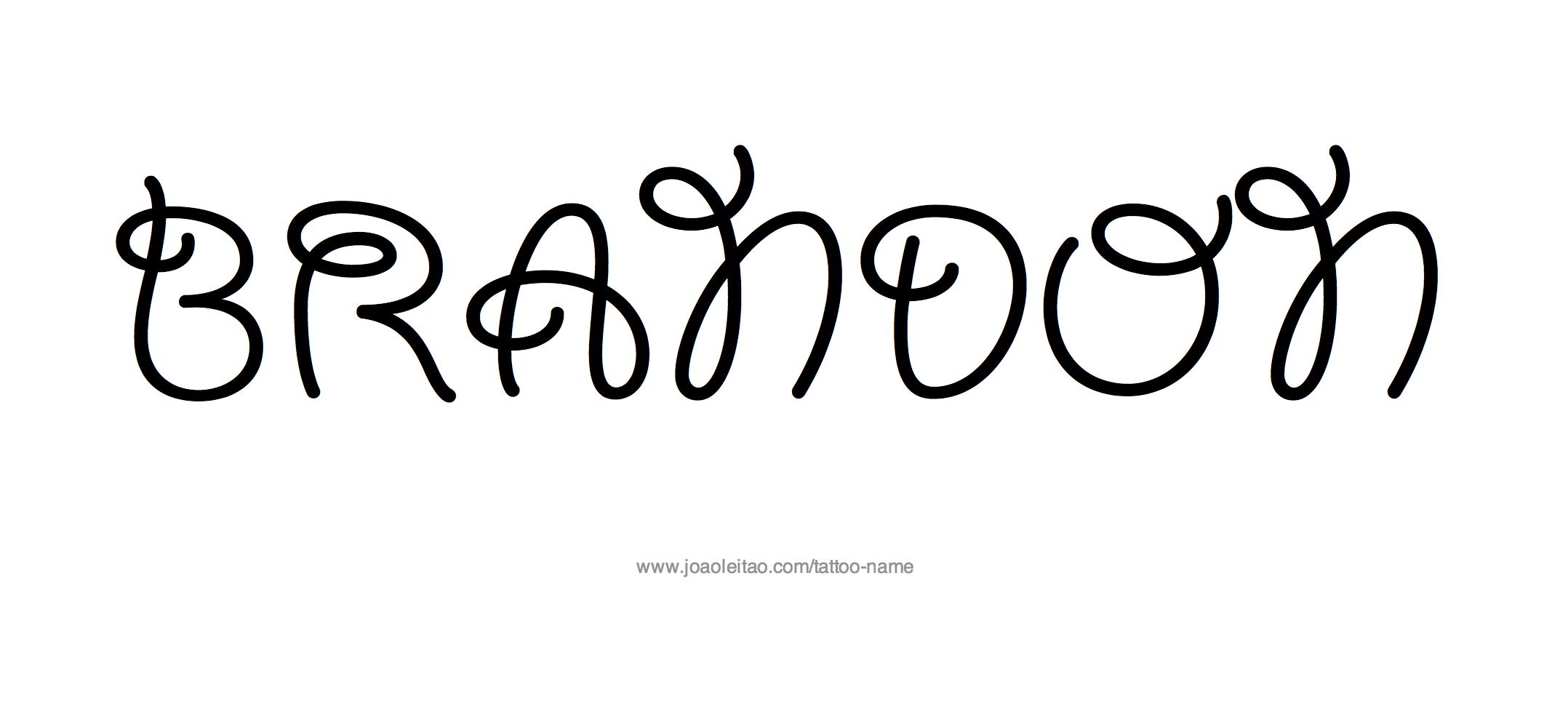 Tattoo Design Name Brandon