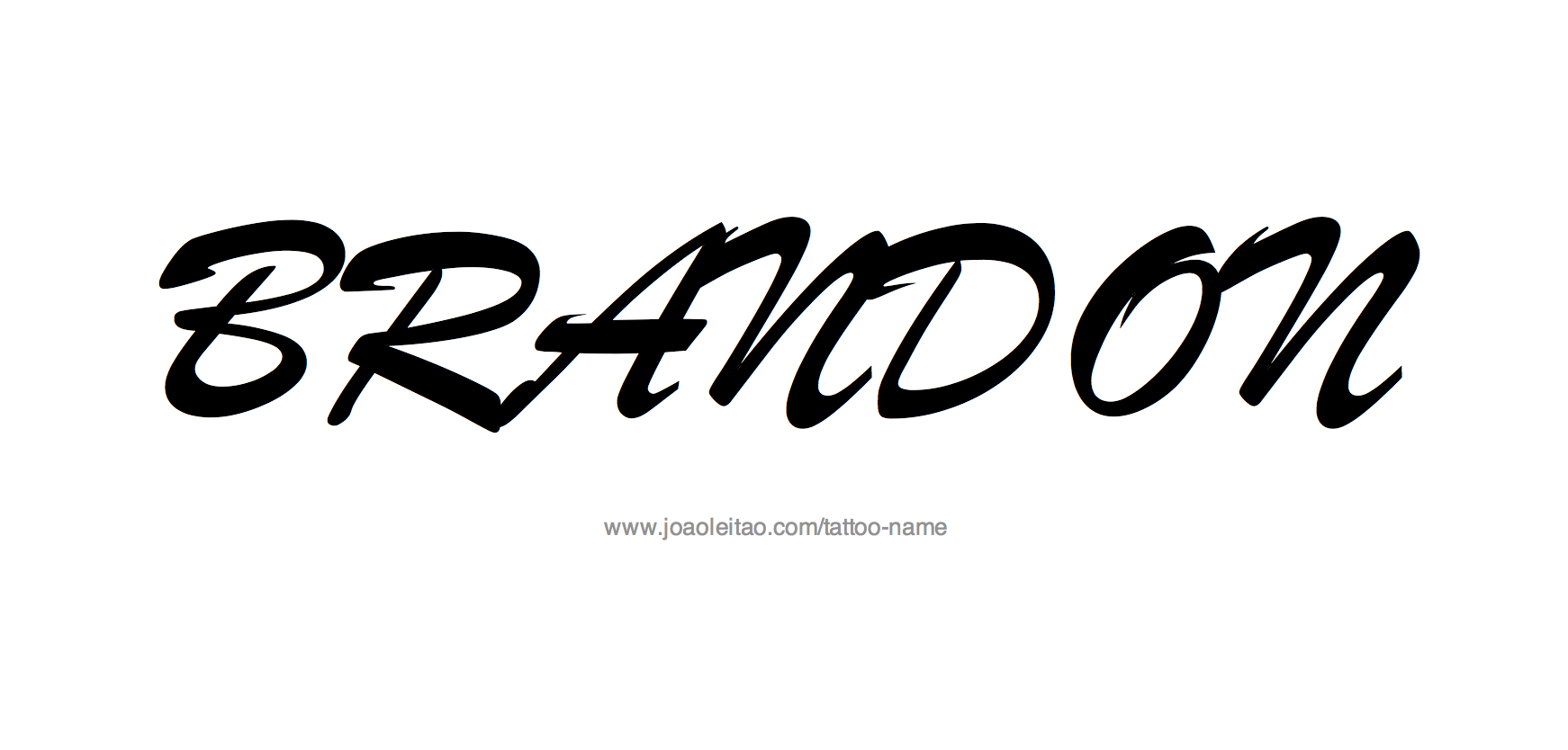 brandon name tattoo designs