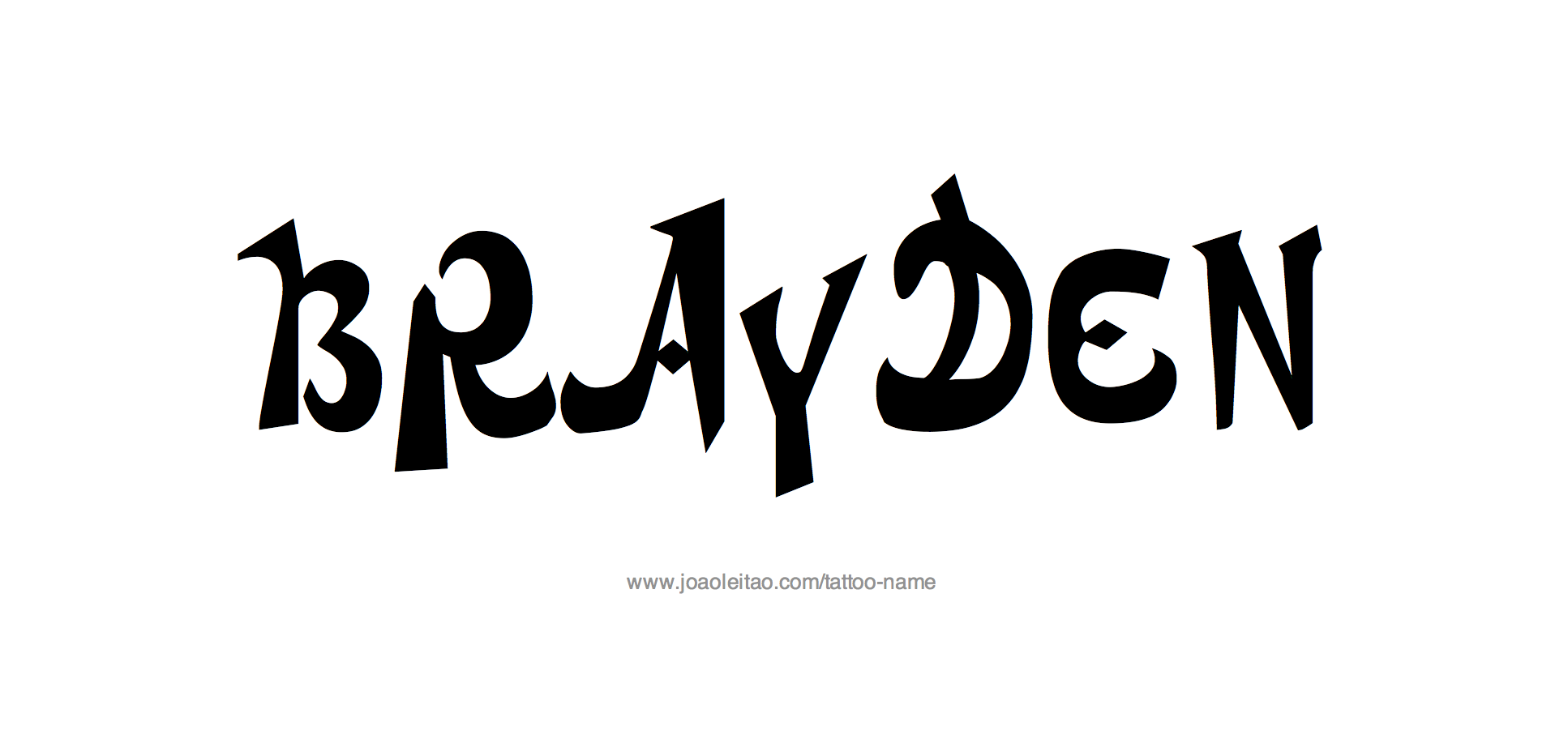Tattoo Design Name Brayden