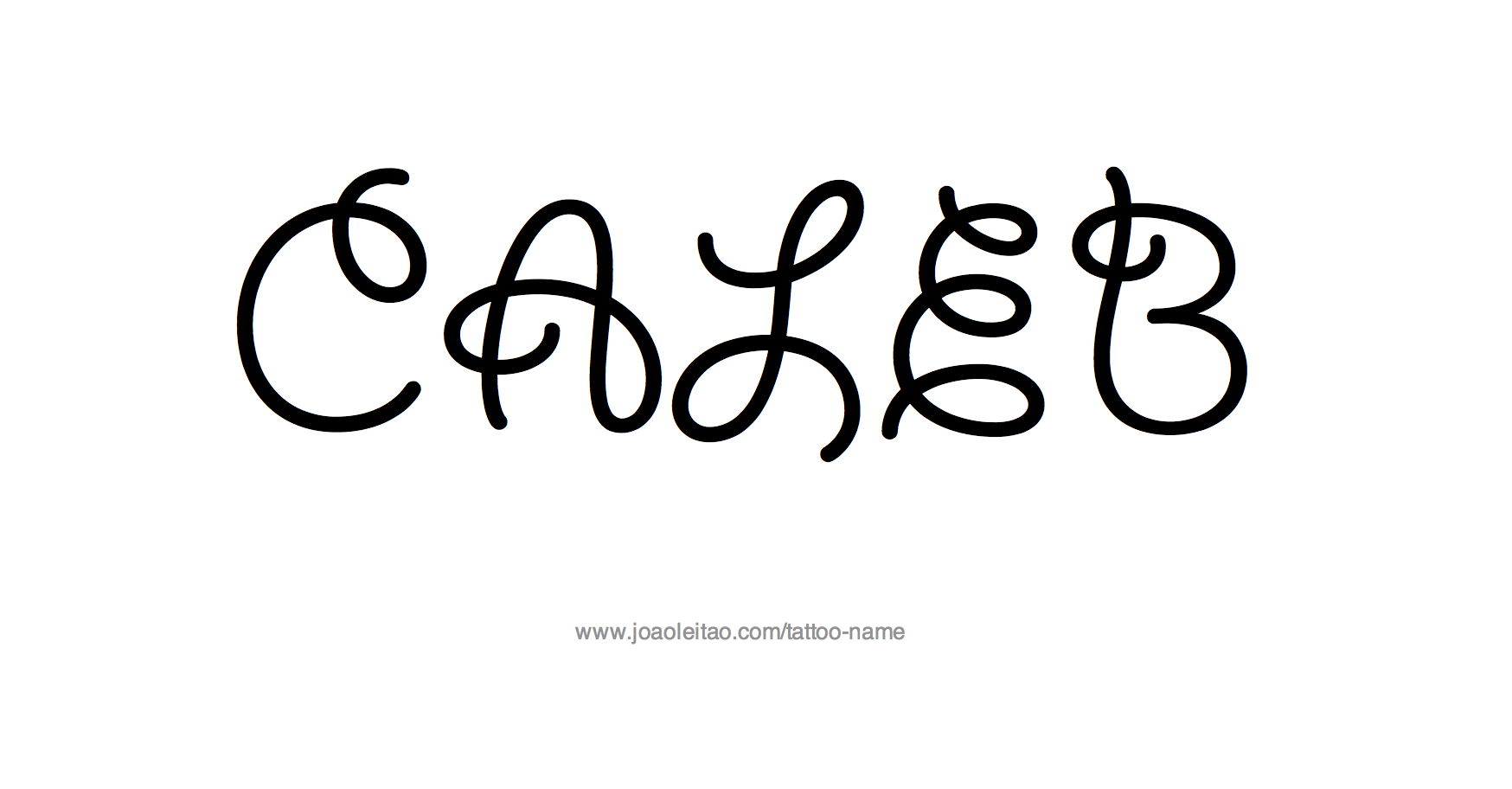 Tattoo Design Name Caleb