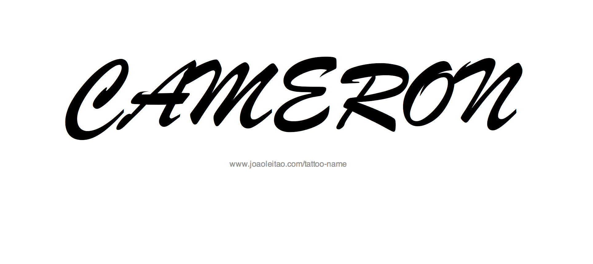 Tattoo Design Name Cameron