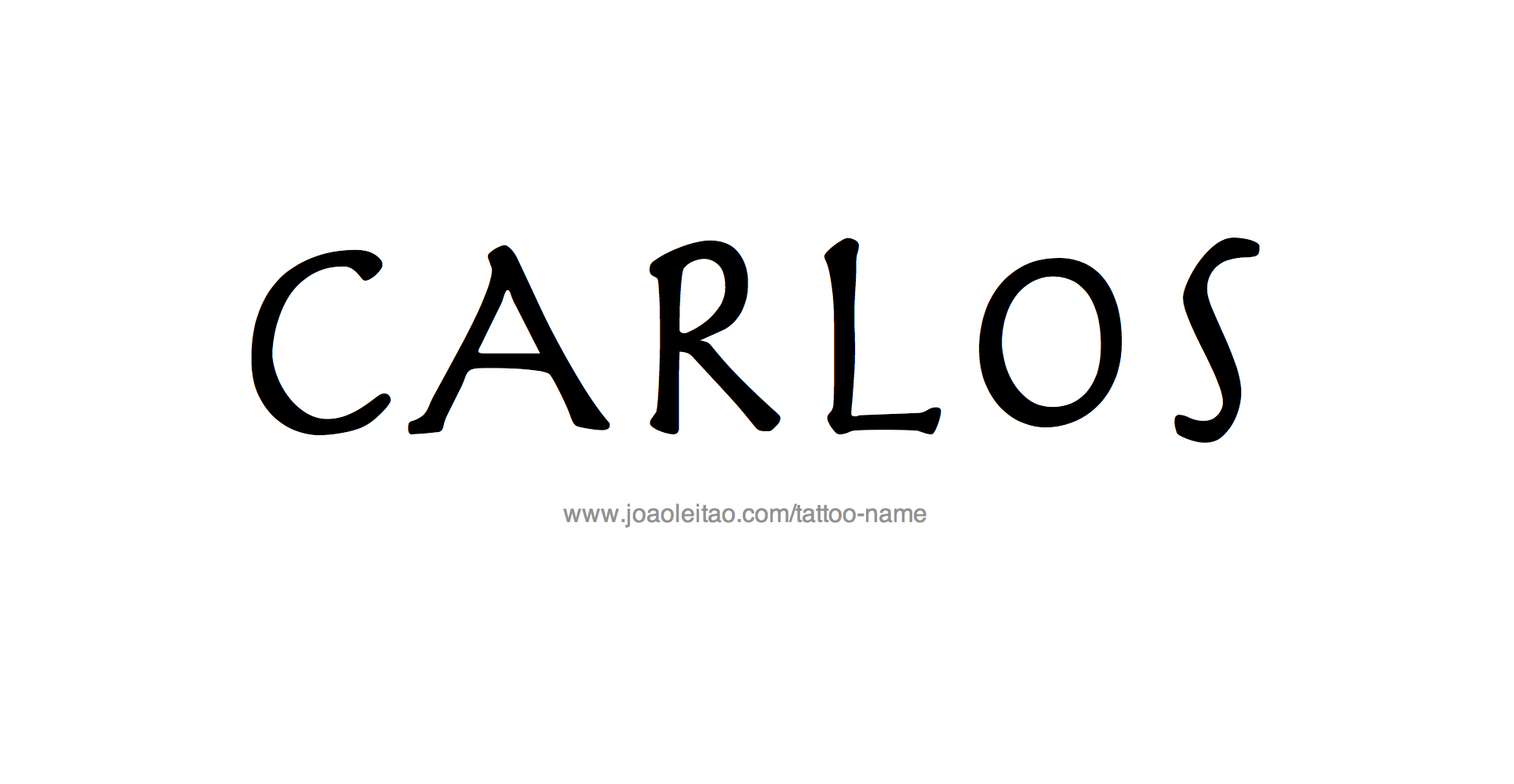 Tattoo Design Name Carlos