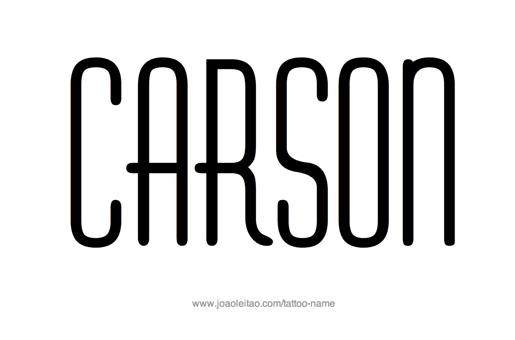 Tattoo Design Name Carson