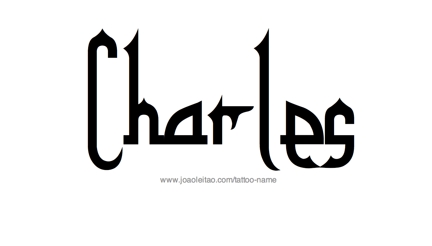 Tattoo Design Name Charles