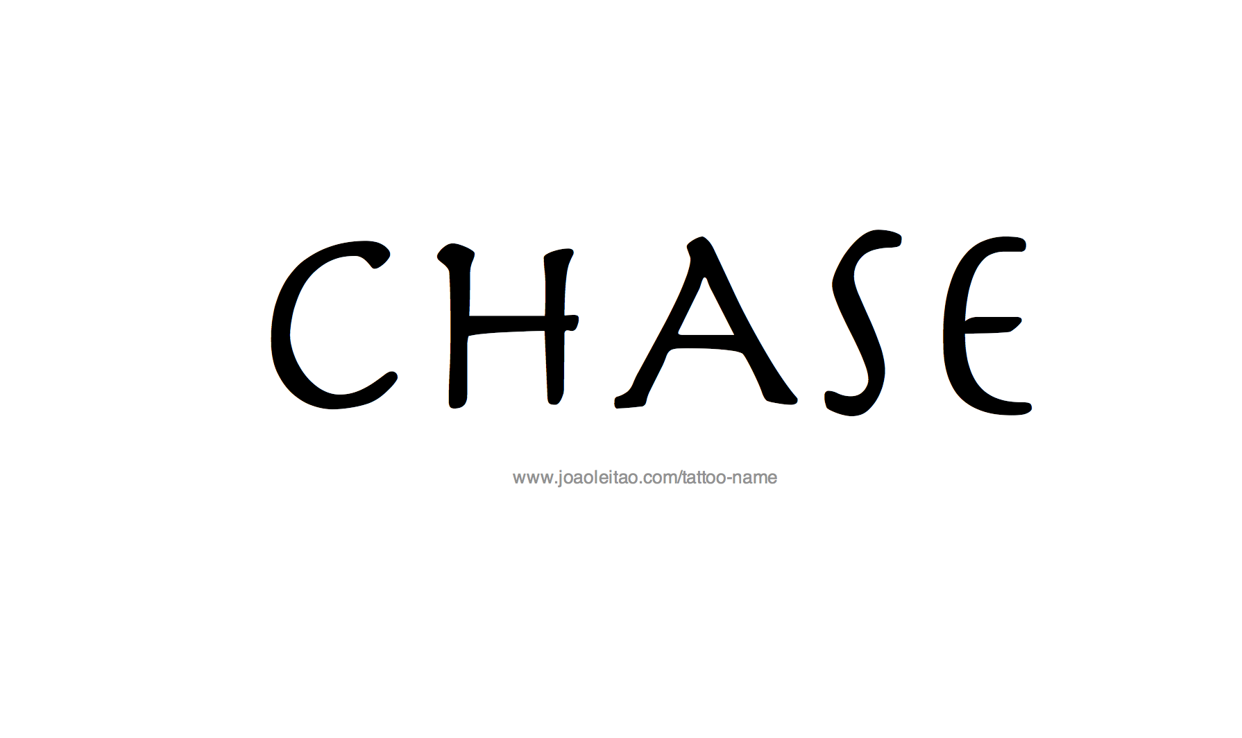 Tattoo Design Name Chase