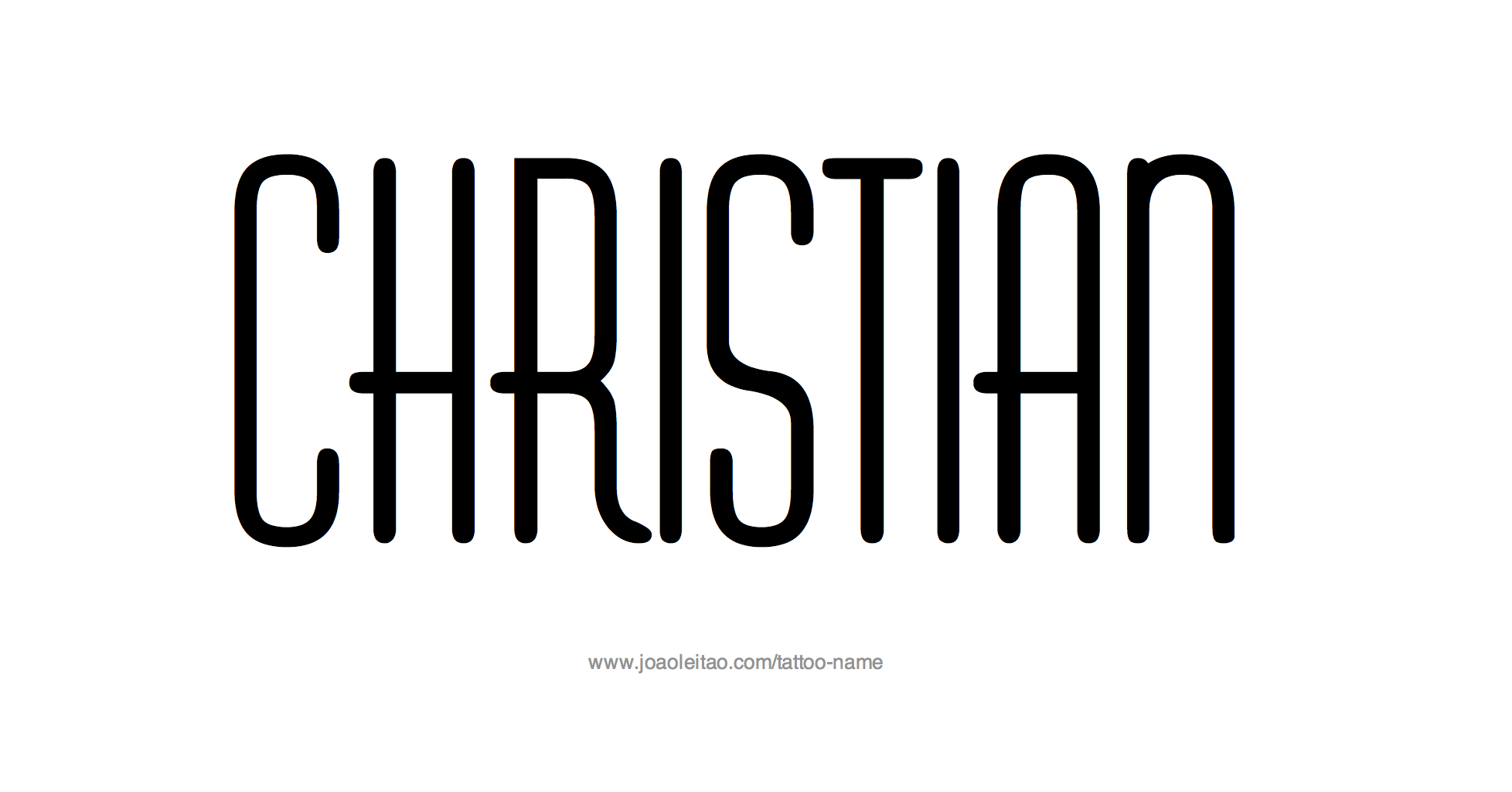 Tattoo Design Name Christian