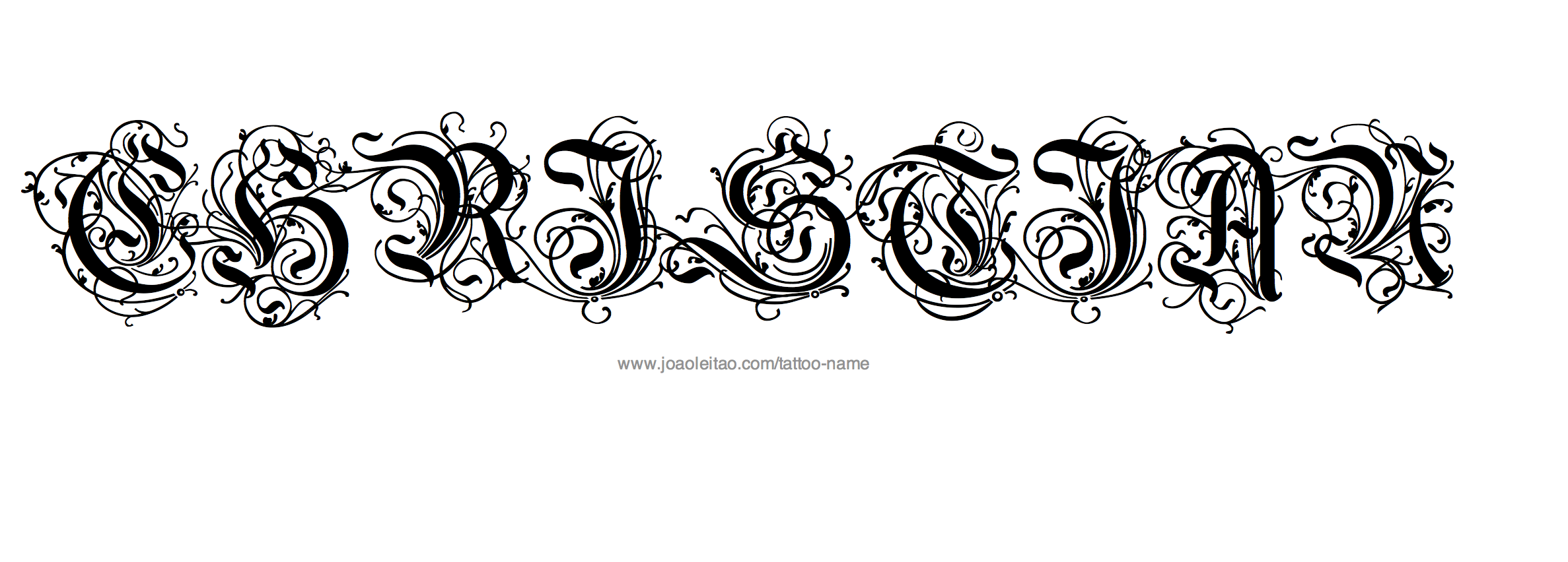 Christian Name Tattoo Designs