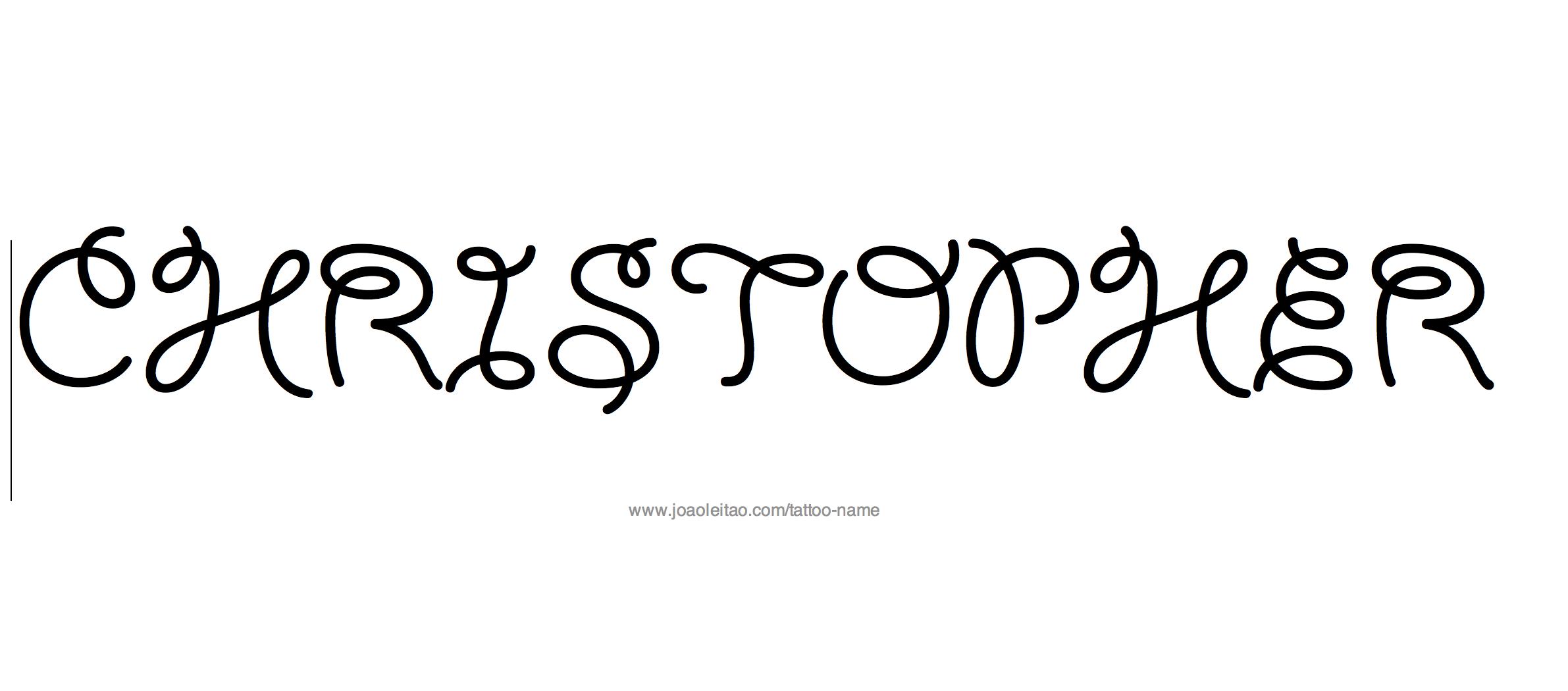 Tattoo Design Name Christopher
