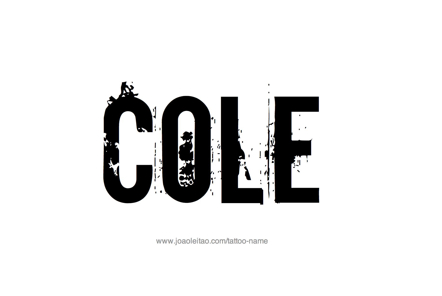 Tattoo Design Name Cole