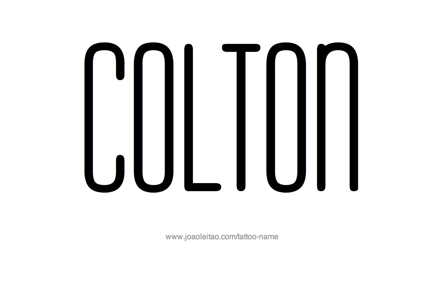 Tattoo Design Name Colton