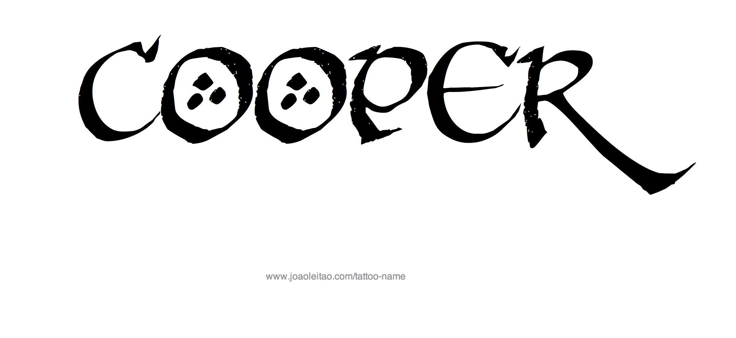 Tattoo Design Name Cooper