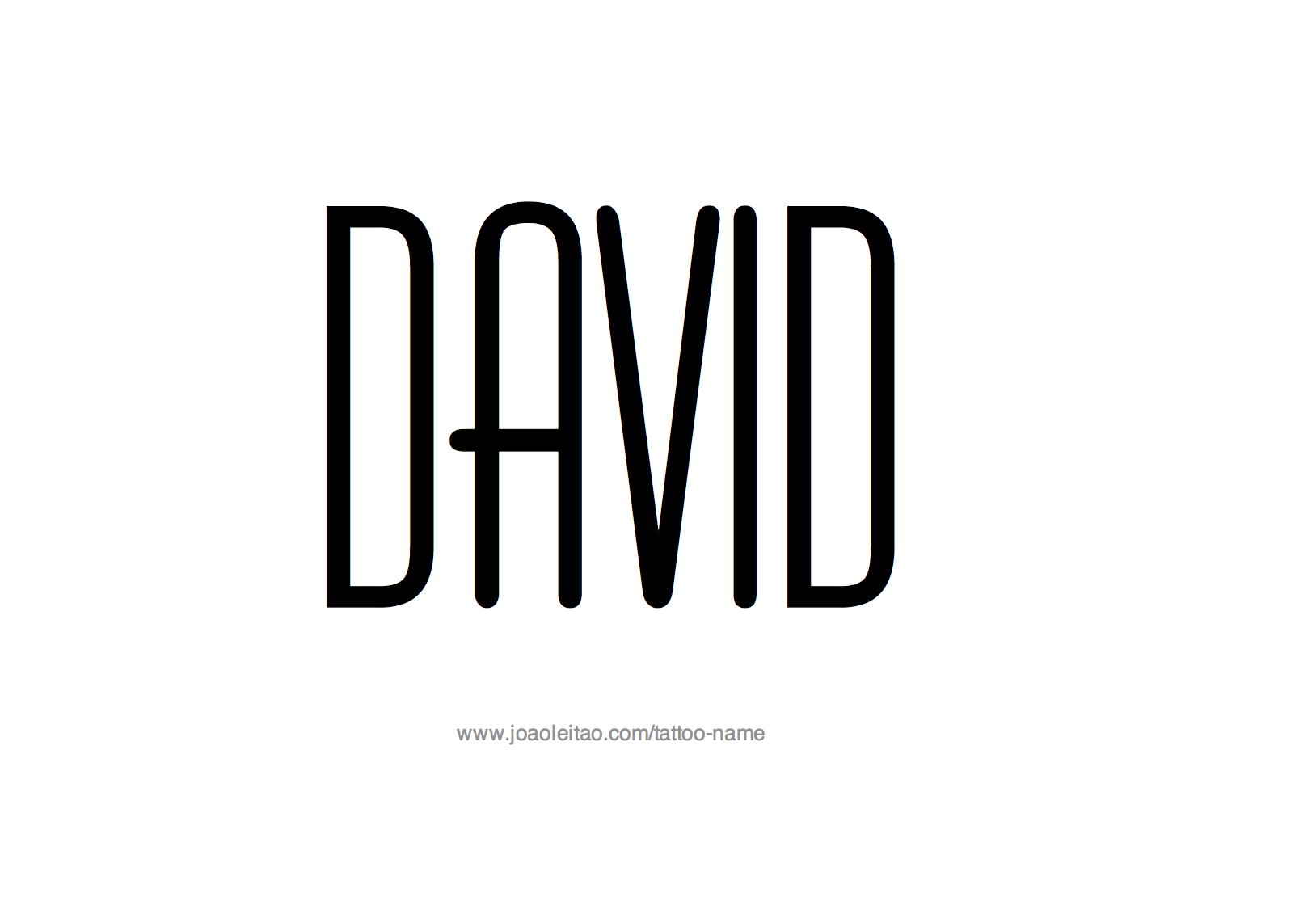 Tattoo Design Name David