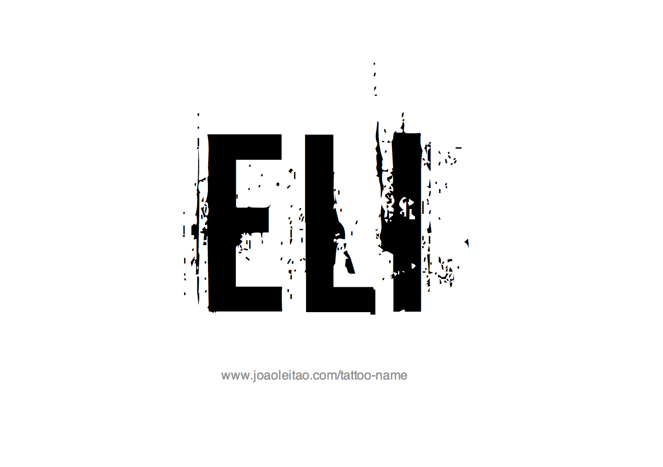 Tattoo Design Name Eli