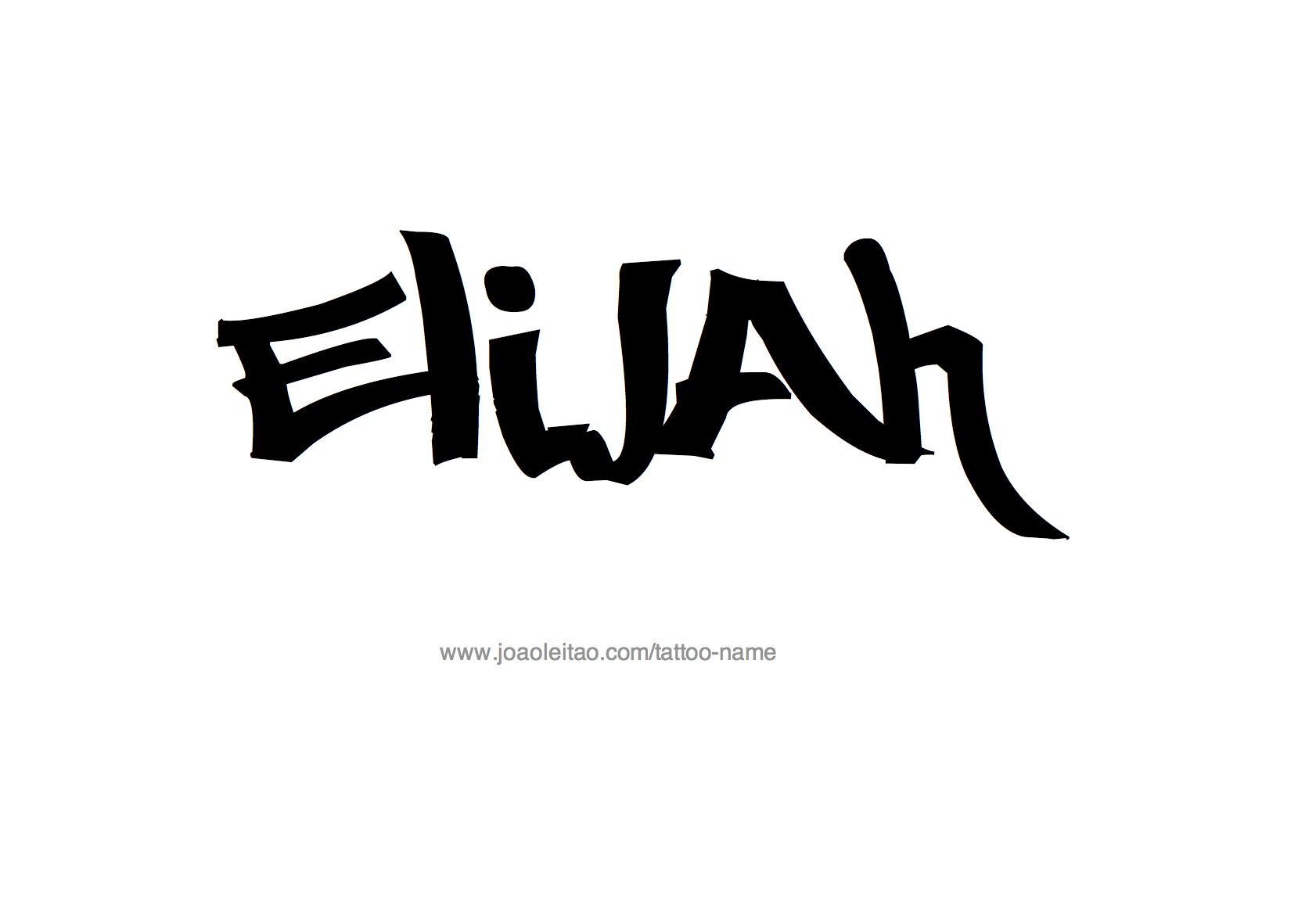 Elijah Name Tattoo Designs