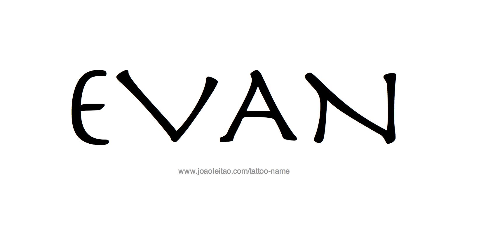 Tattoo Design Name Evan