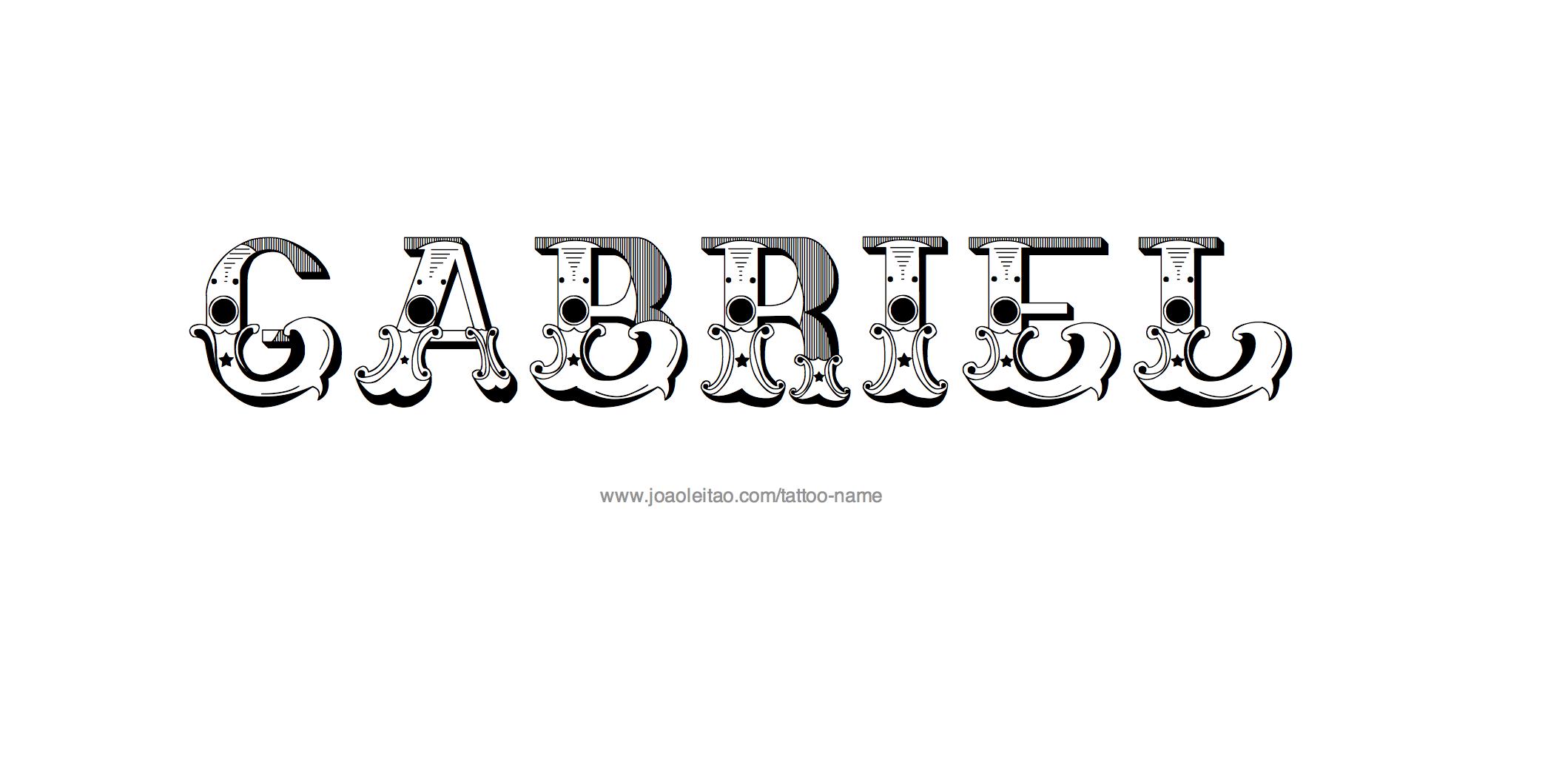 Tattoo Design Name Gabriel