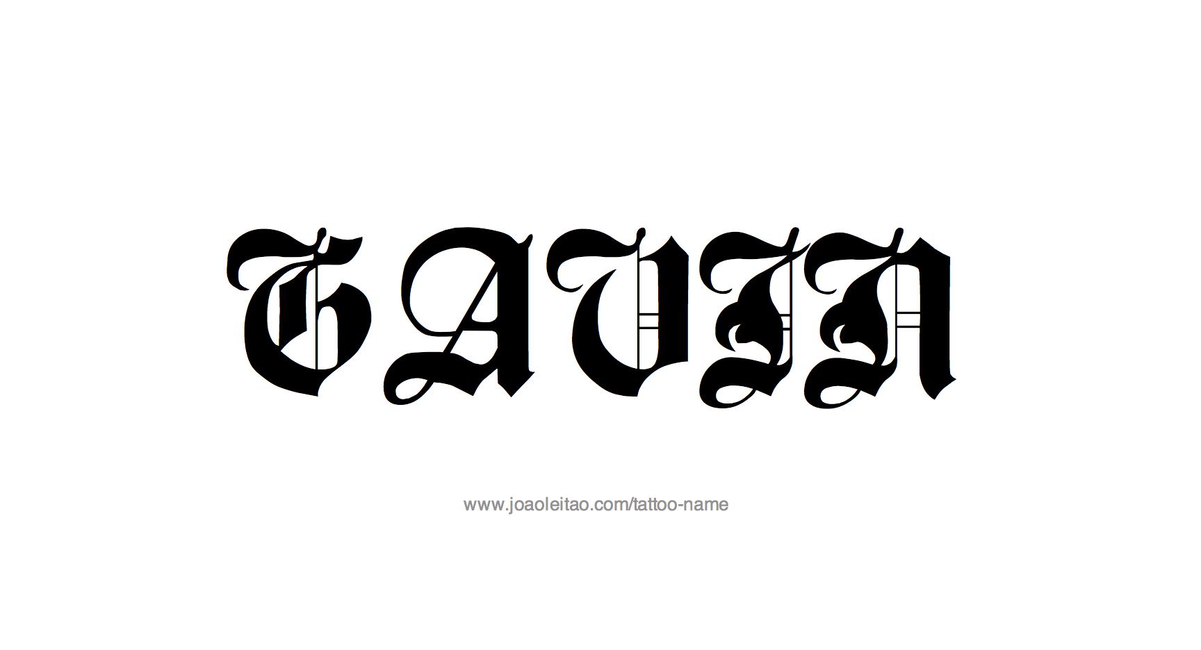 Tattoo Design Name Gavin