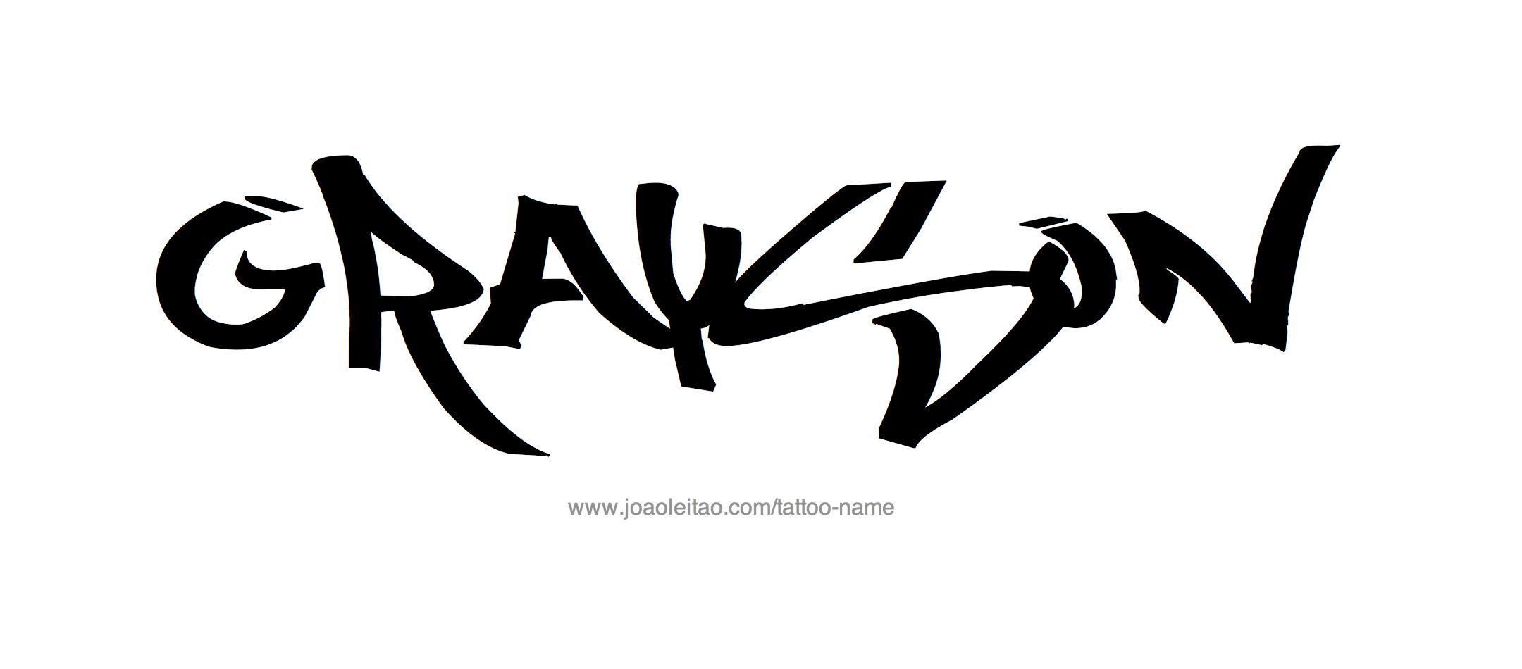 Tattoo Design Name Grayson