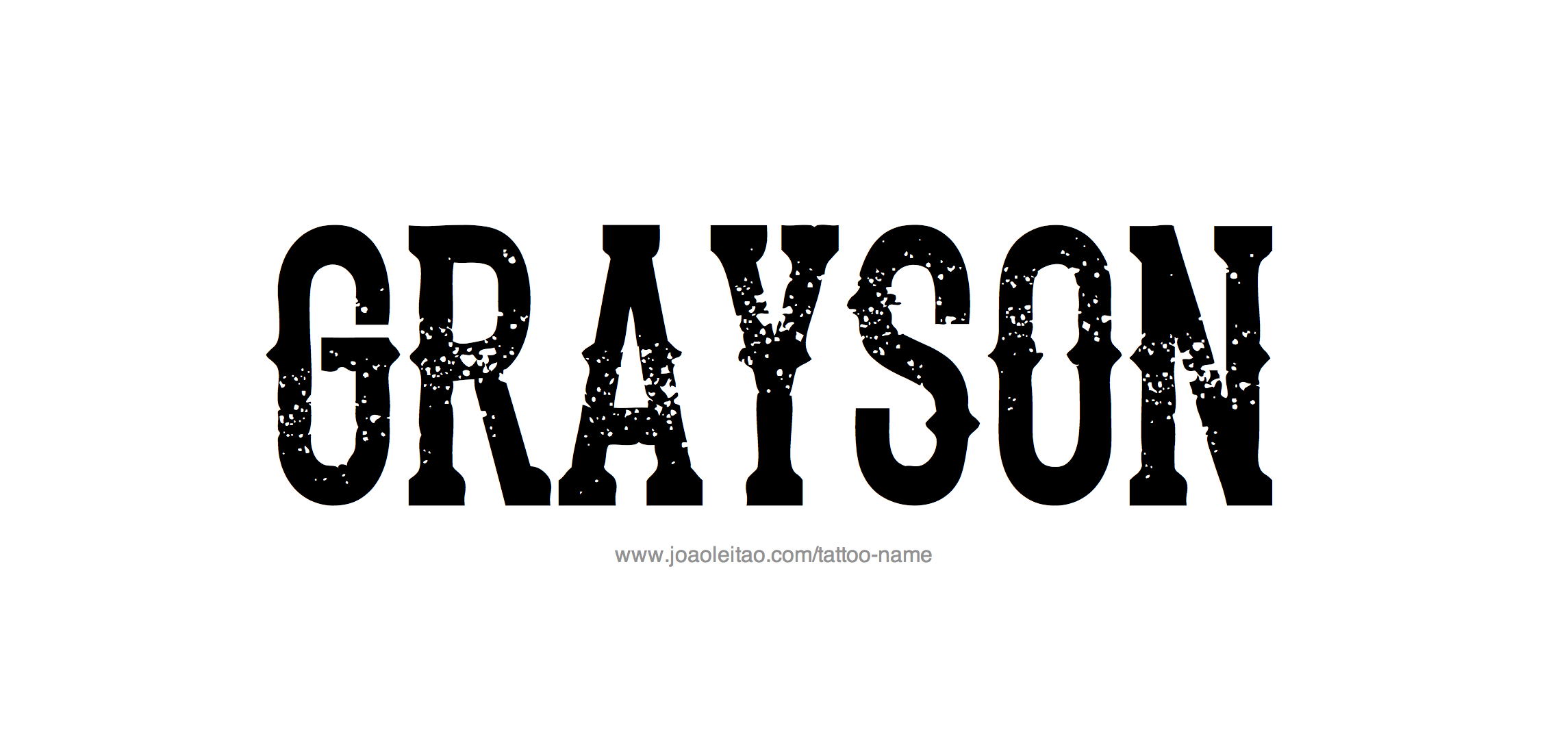 Grayson Name Tattoo Designs  |Grayson Name