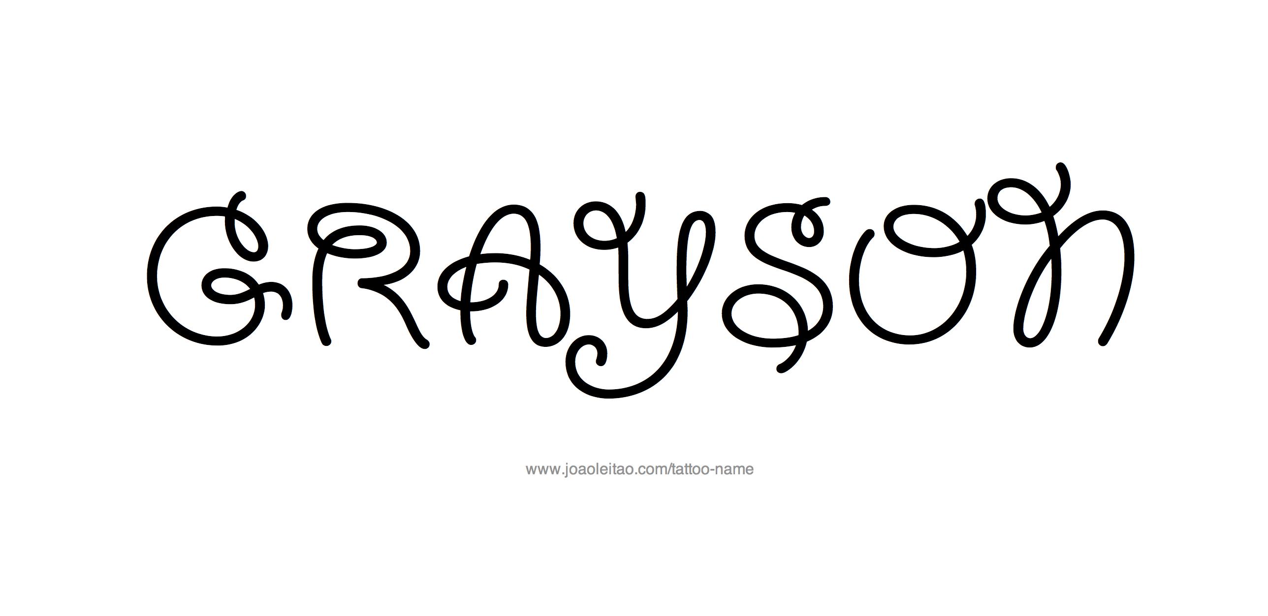 grayson Archives - Free Name Designs  |Grayson Name