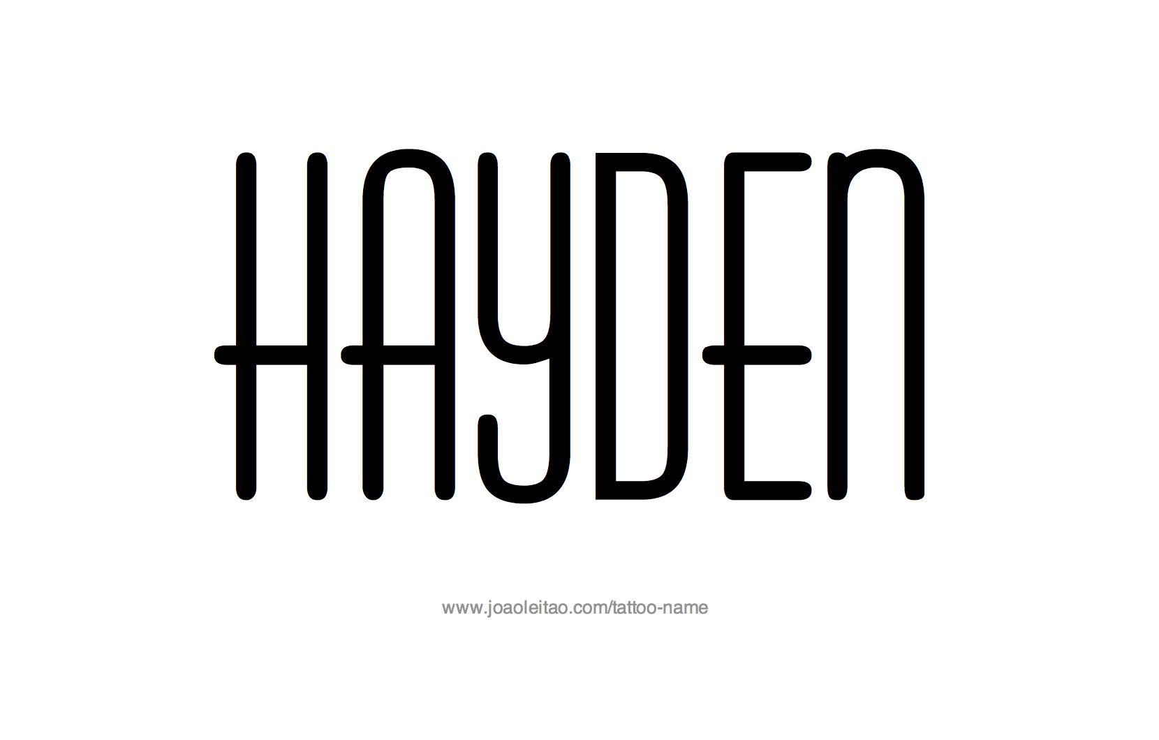 Tattoo Design Name Hayden
