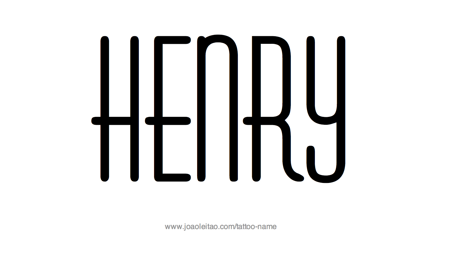 Tattoo Design Name Henry
