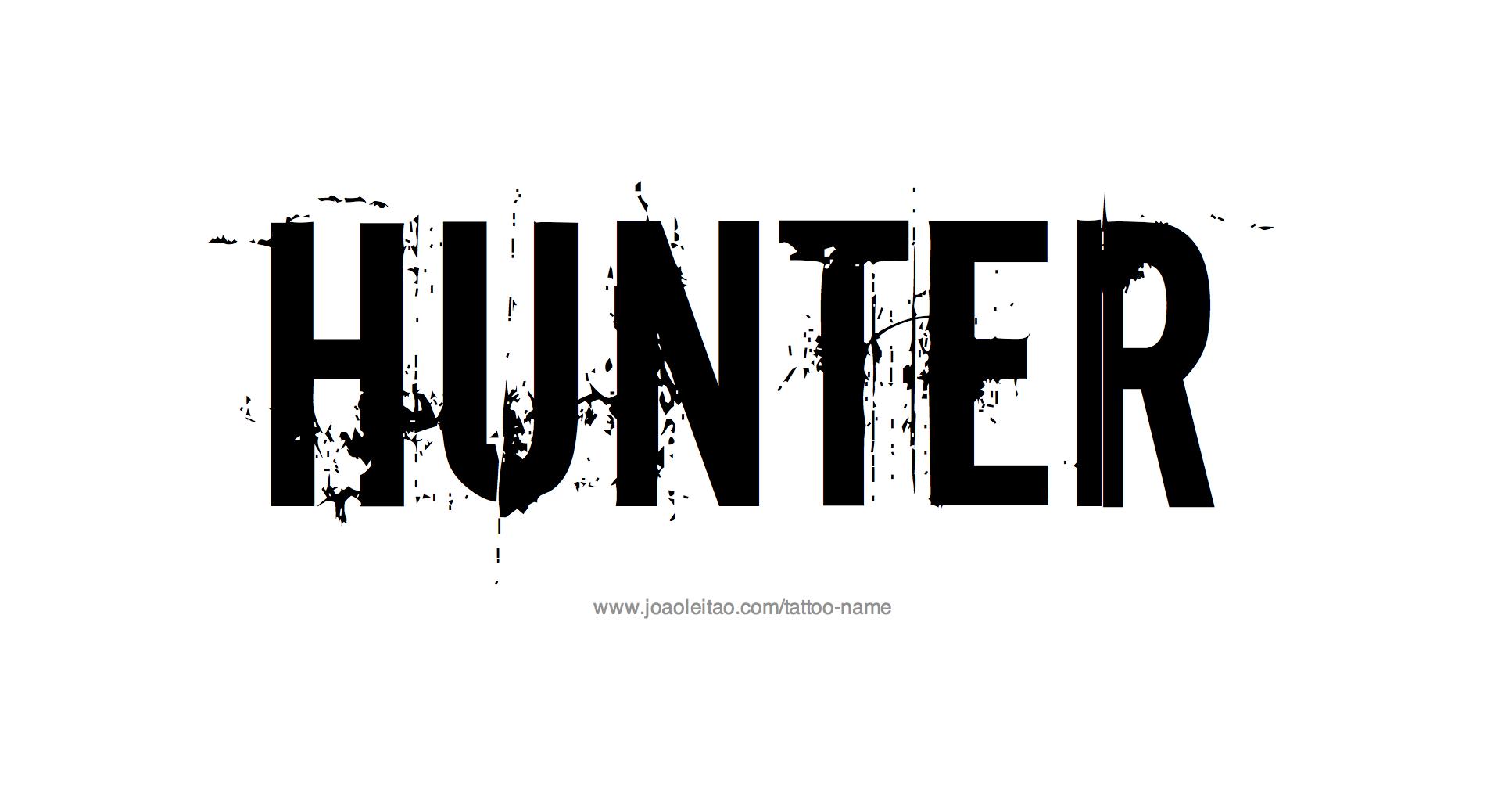 Name: Hunter Name Tattoo Designs
