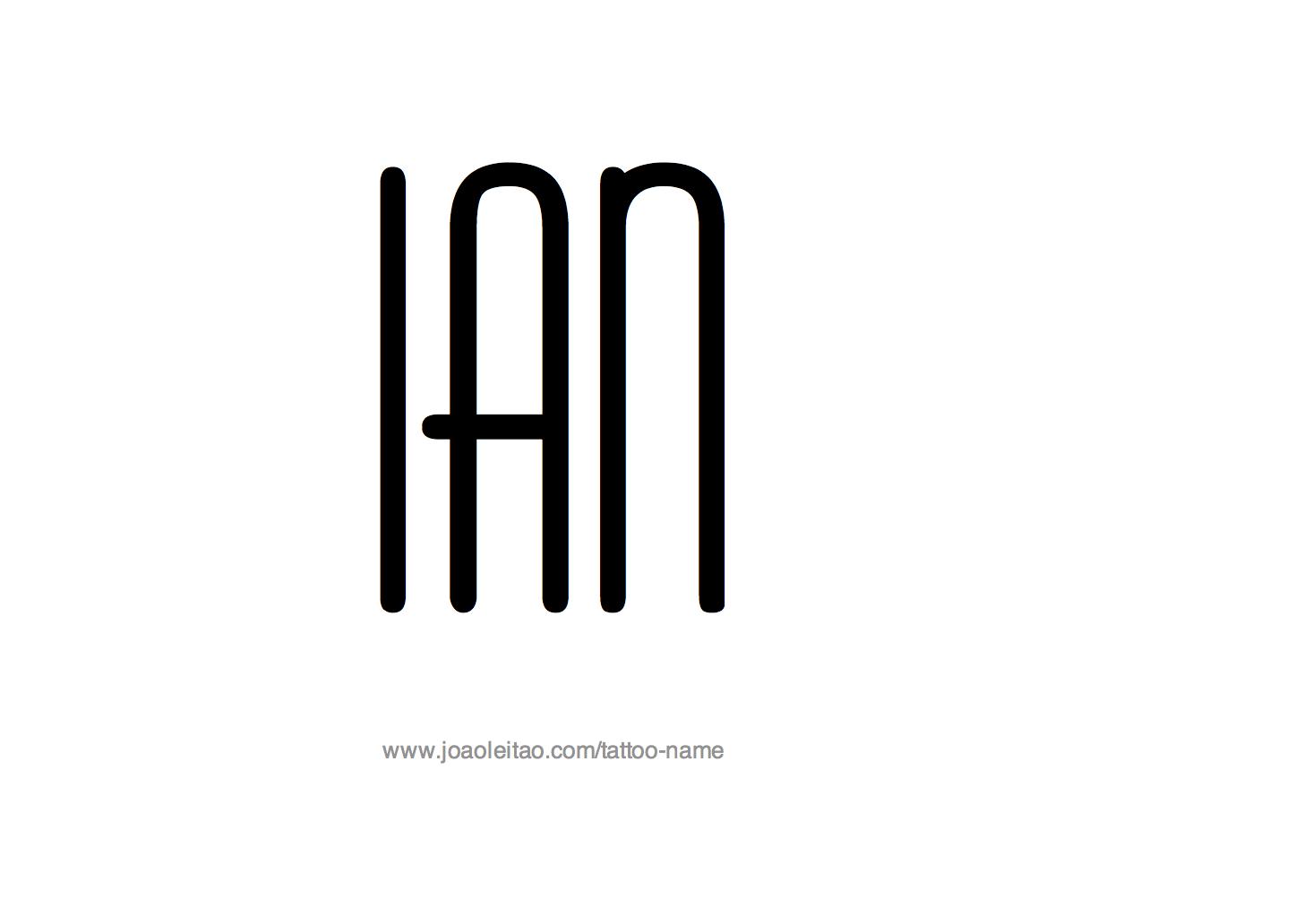 Tattoo Design Name Ian