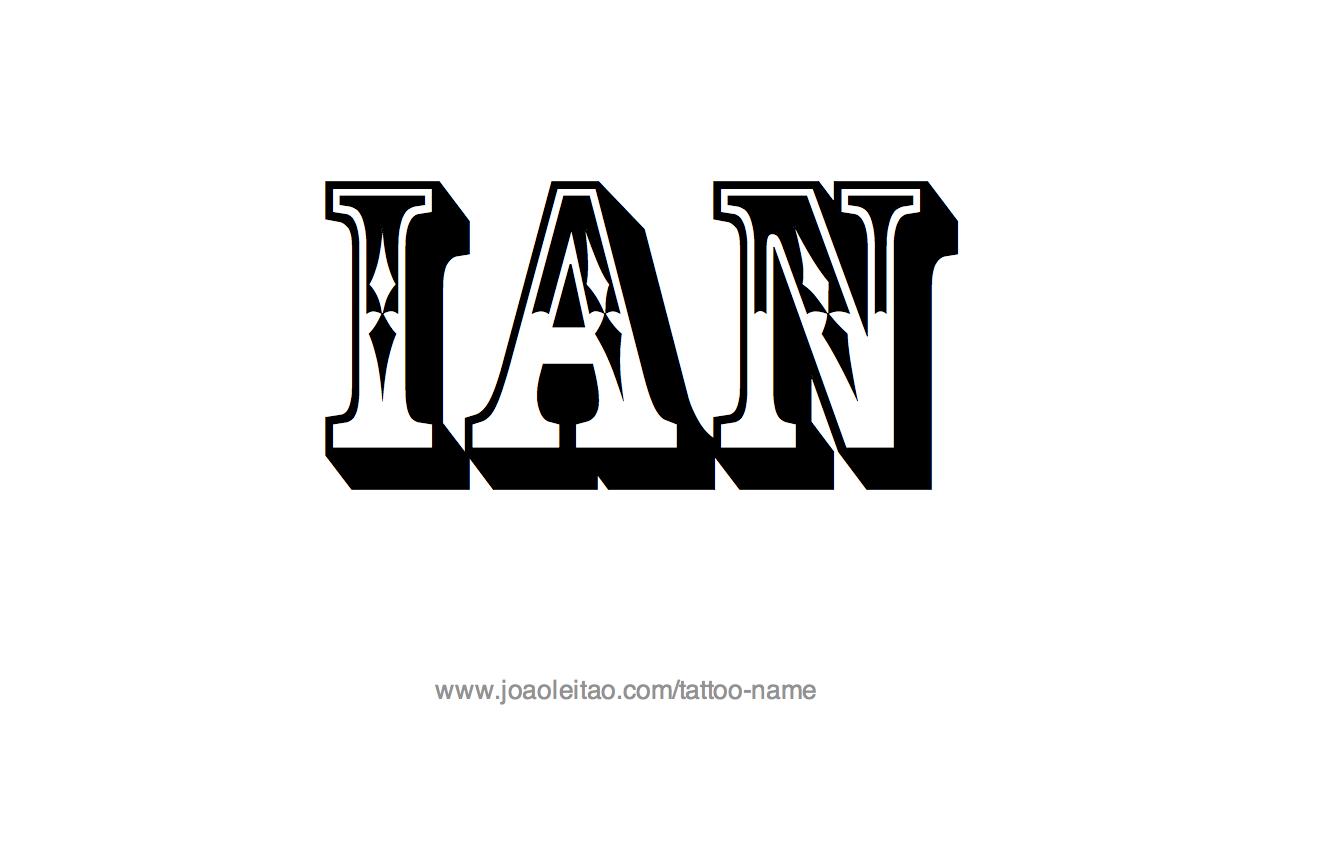 Ian Name Tattoo Designs