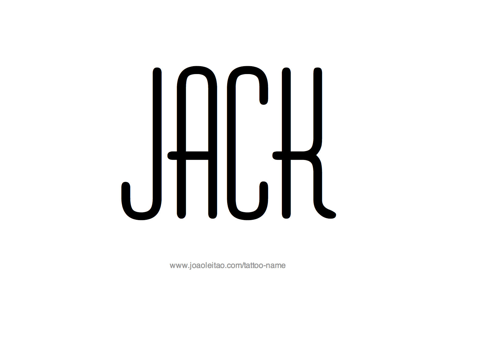 Tattoo Design Name Jack