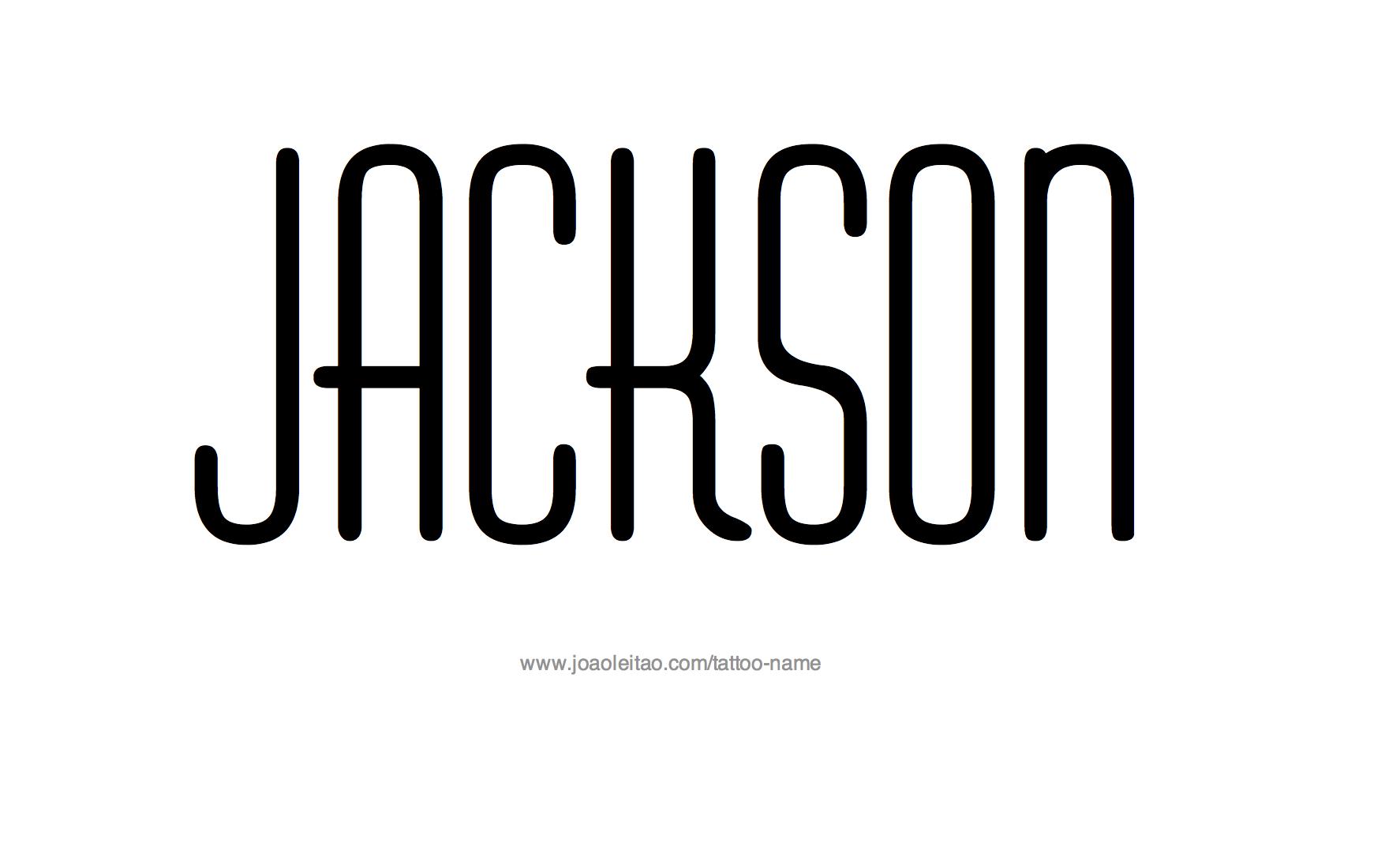 Name: Jackson Name Tattoo Designs